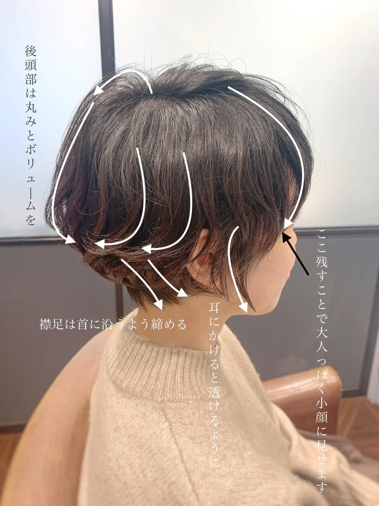 ナチュラル ショートパーマ ゆるふわパーマ ショートヘアヘアスタイルや髪型の写真・画像