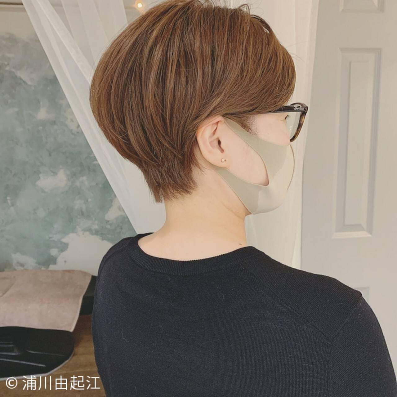 モード 春ヘア ベリーショート 大人かわいいヘアスタイルや髪型の写真・画像