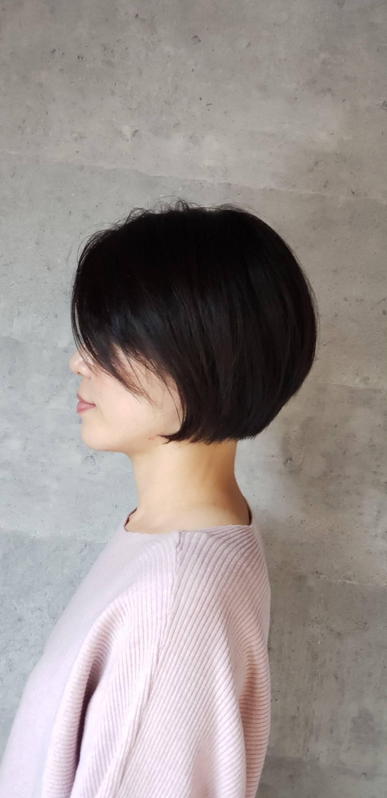 モード ショートボブ 大人女子 大人可愛いヘアスタイルや髪型の写真・画像