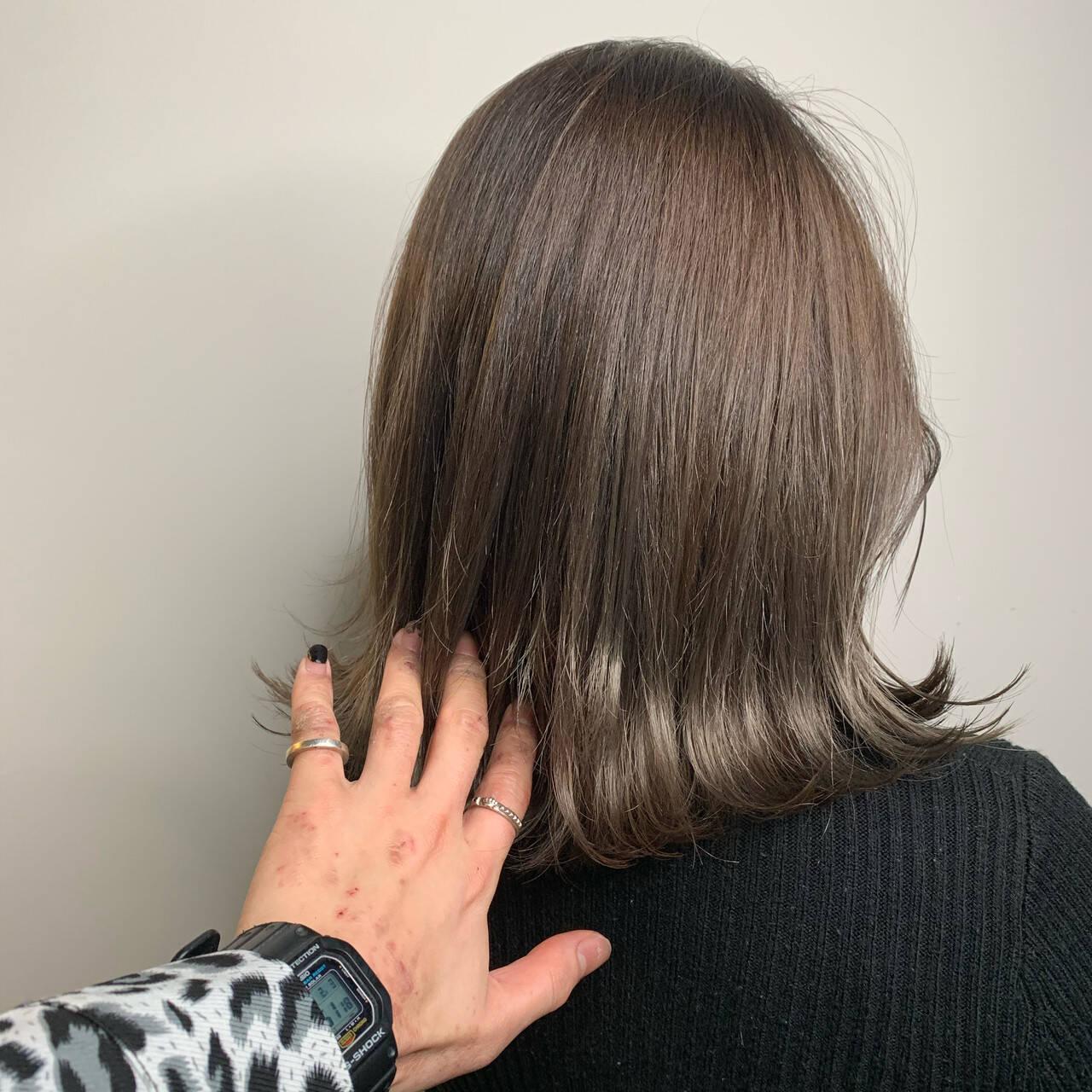 ショートヘア ボブ ナチュラル ミニボブヘアスタイルや髪型の写真・画像