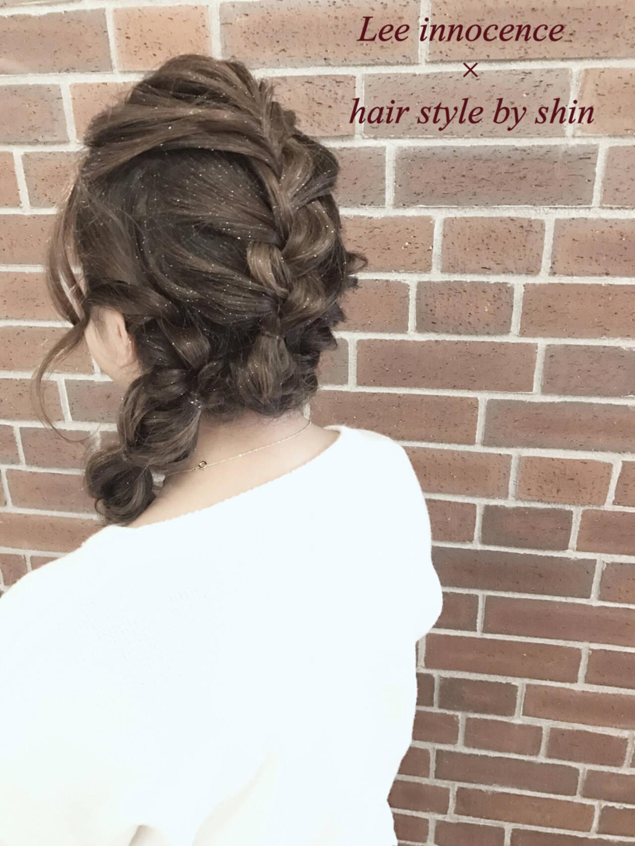 大人女子 ヘアアレンジ 簡単ヘアアレンジ ゆるふわヘアスタイルや髪型の写真・画像