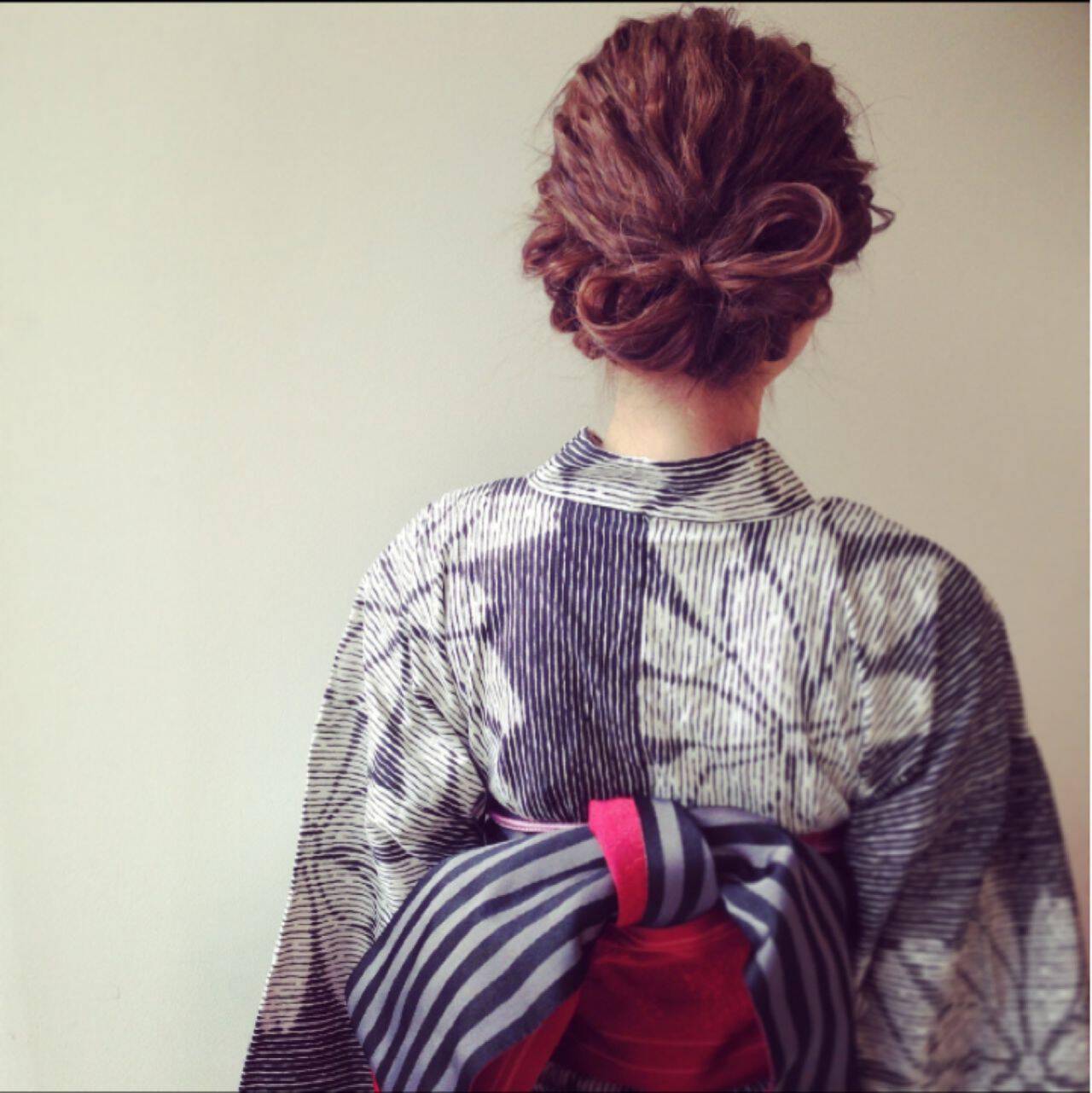 ヘアアレンジ ナチュラル 夏 アップスタイルヘアスタイルや髪型の写真・画像
