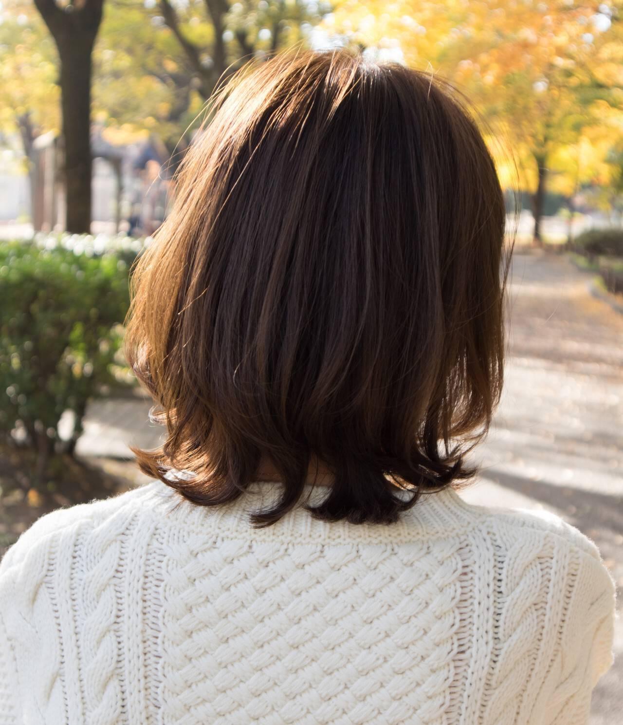 レイヤースタイル ひし形シルエット レイヤーボブ ナチュラルヘアスタイルや髪型の写真・画像