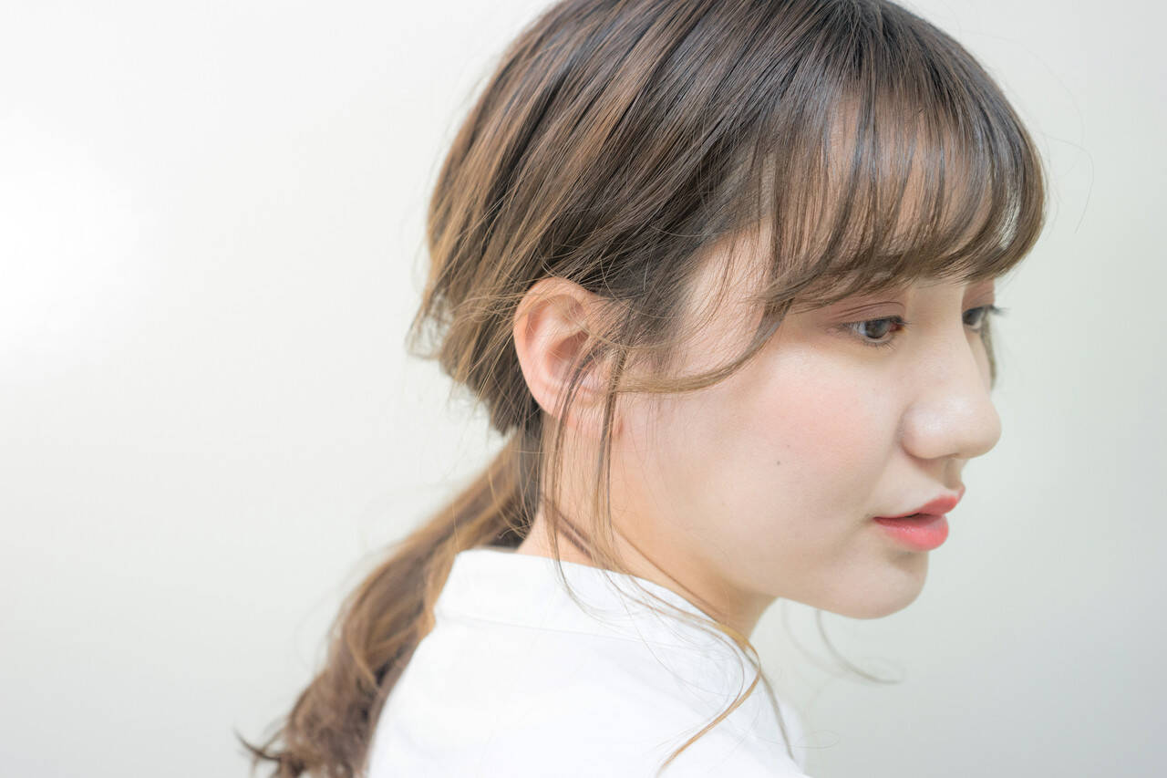 ヘアアレンジ 前髪 ナチュラル 簡単ヘアアレンジヘアスタイルや髪型の写真・画像