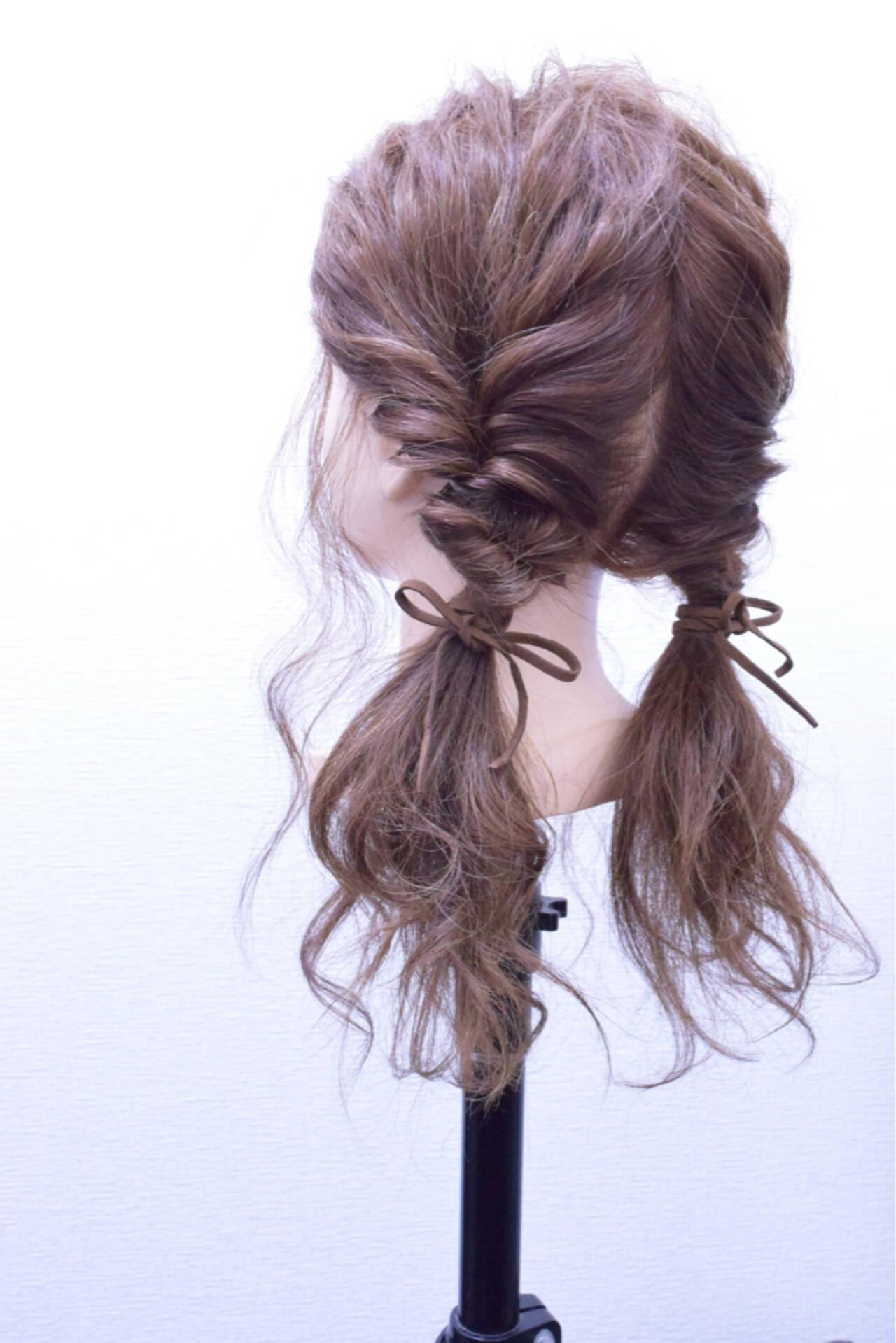 ゆるふわ ヘアアレンジ 簡単ヘアアレンジ ロングヘアスタイルや髪型の写真・画像
