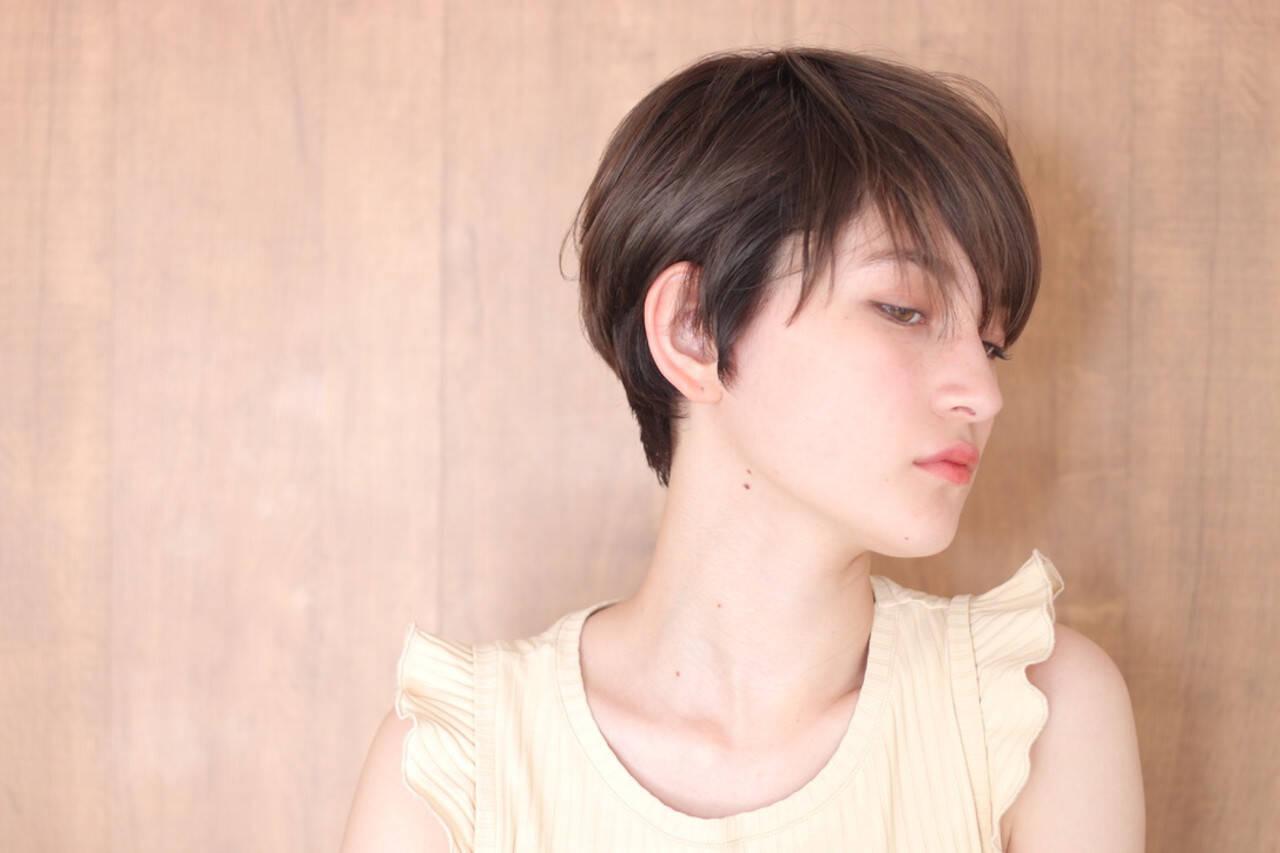 ウルフカット ベリーショート ナチュラル ショートヘアヘアスタイルや髪型の写真・画像
