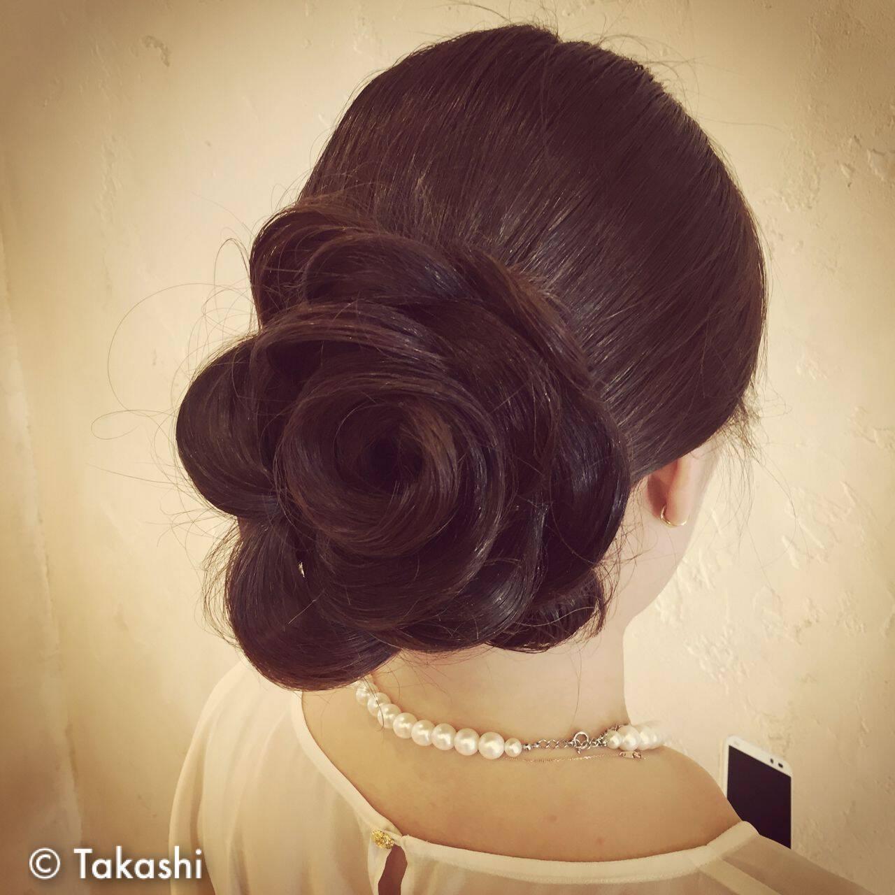 愛され まとめ髪 コンサバ 甘めヘアスタイルや髪型の写真・画像