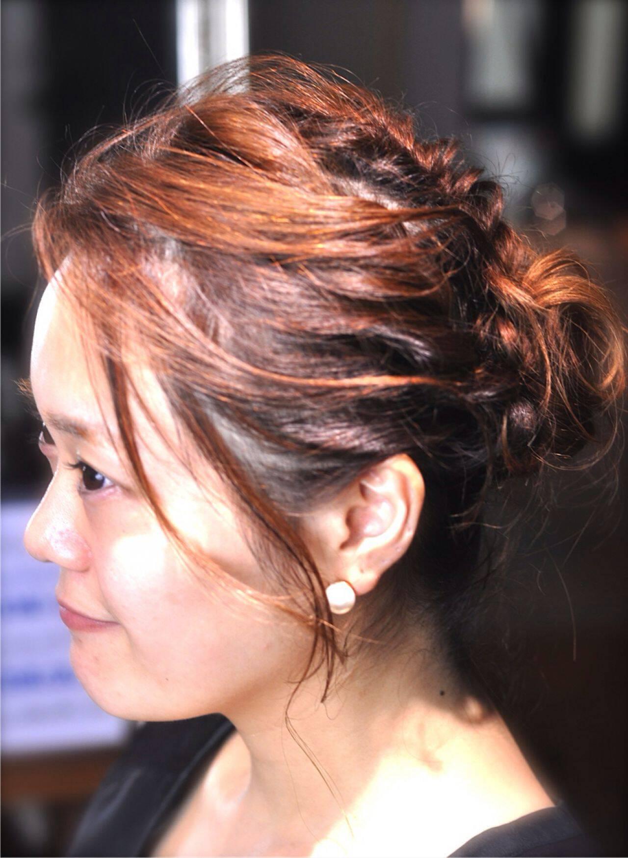 ゆるふわ まとめ髪 愛され ヘアアレンジヘアスタイルや髪型の写真・画像