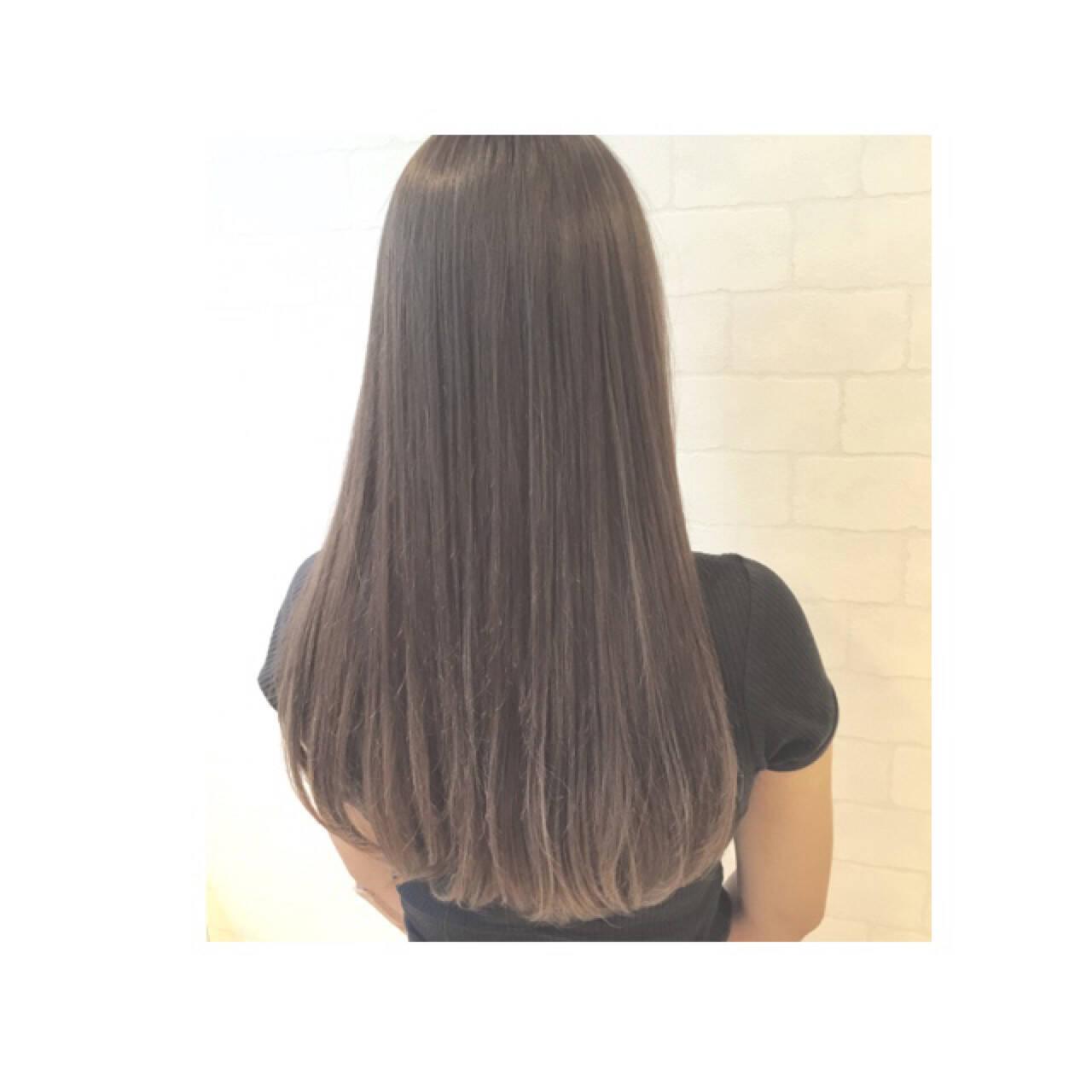 ロング ハイライト 大人かわいい グラデーションカラーヘアスタイルや髪型の写真・画像