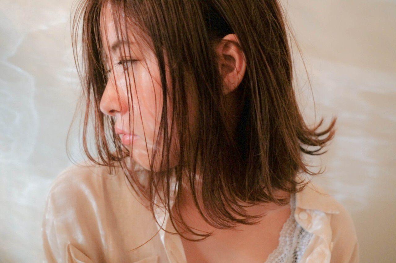 ボブ 女子会 ナチュラル デートヘアスタイルや髪型の写真・画像