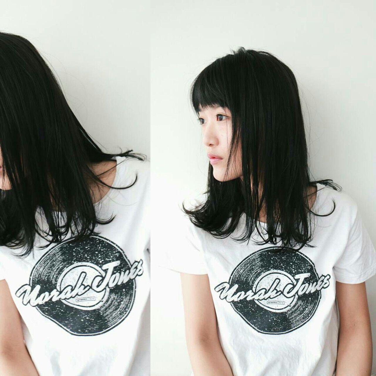 大人女子 デート 前髪あり こなれ感ヘアスタイルや髪型の写真・画像