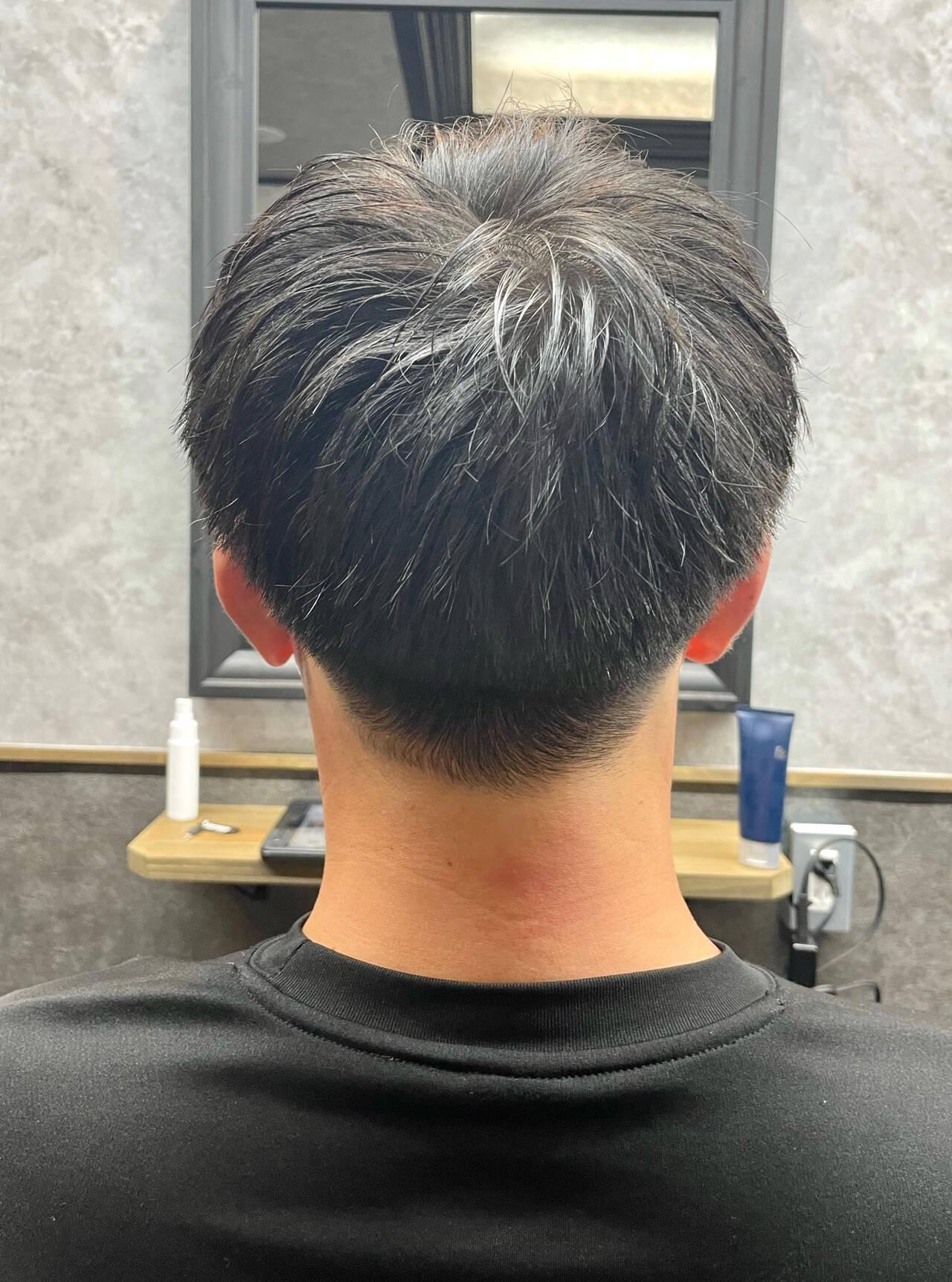 ショート メンズカット ナチュラル メンズヘアスタイルや髪型の写真・画像