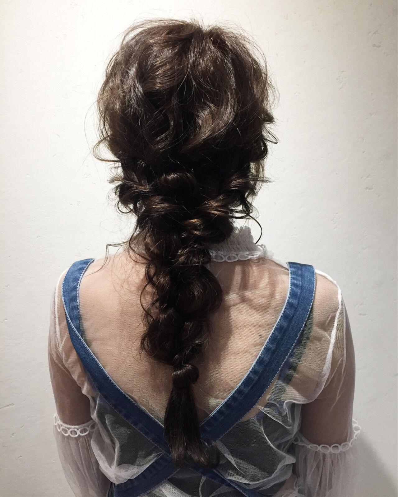 デート ヘアアレンジ 涼しげ 結婚式ヘアスタイルや髪型の写真・画像