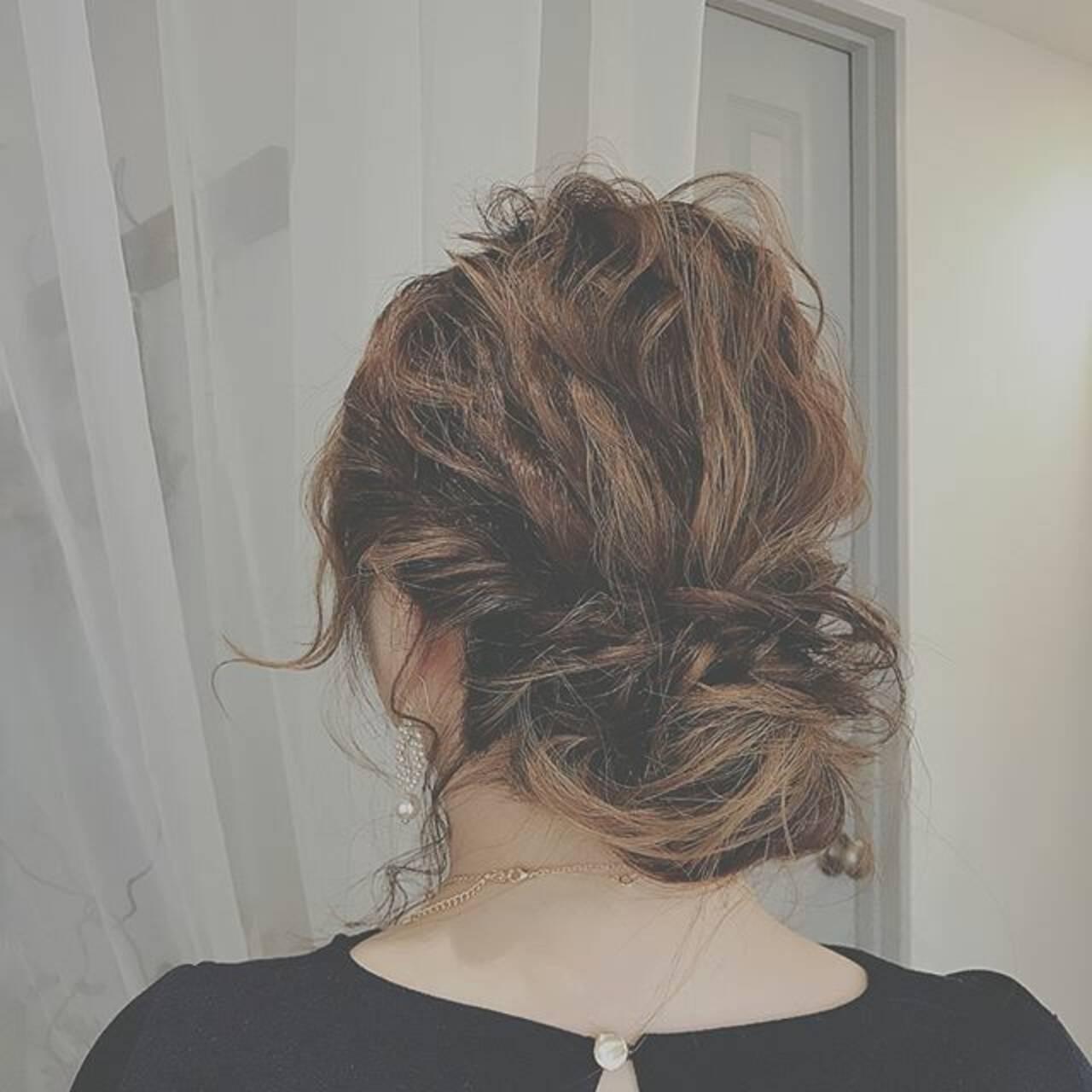 ゆるふわ ロング ヘアアレンジ フェミニンヘアスタイルや髪型の写真・画像