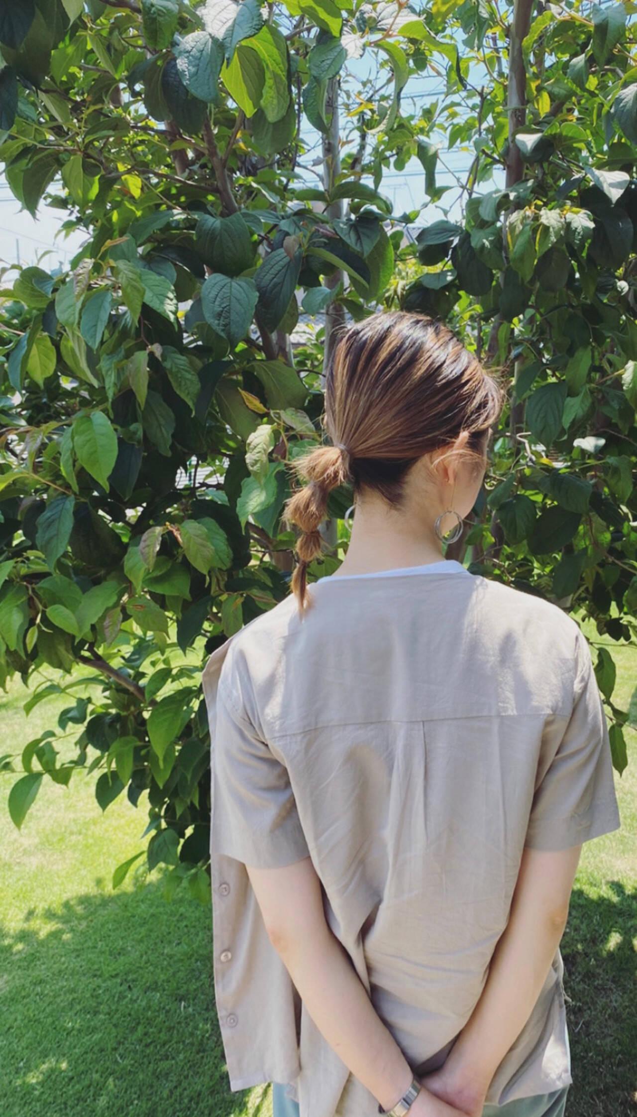 簡単ヘアアレンジ ヘアアレンジ ポニーテールアレンジ セルフヘアアレンジヘアスタイルや髪型の写真・画像