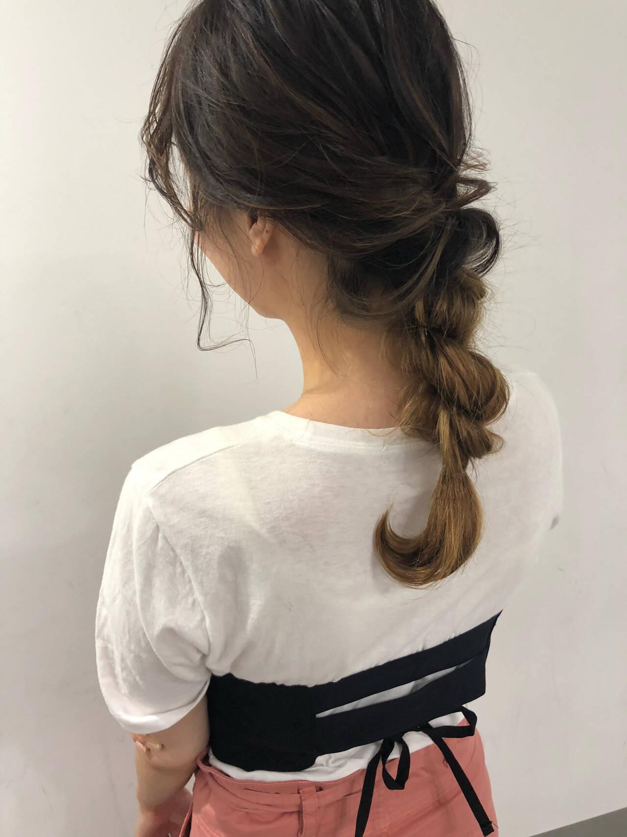 アンニュイほつれヘア ヘアアレンジ 成人式 デートヘアスタイルや髪型の写真・画像