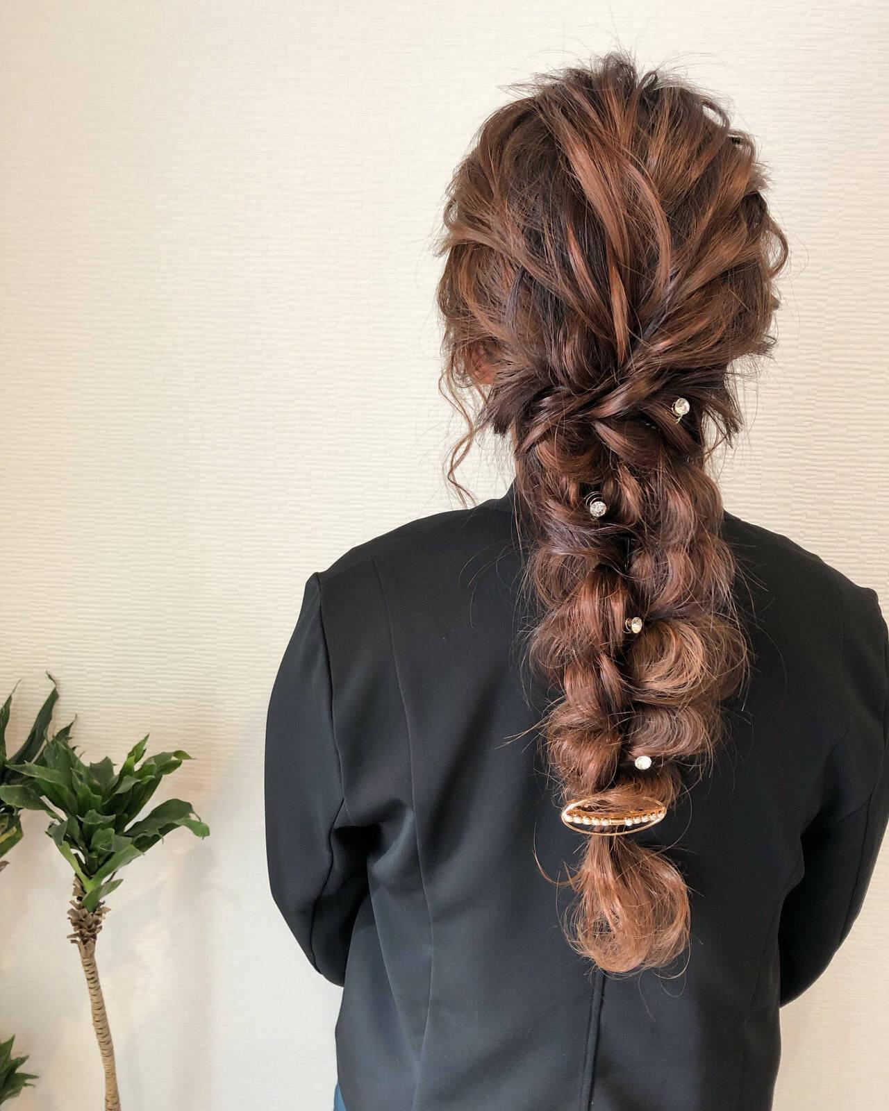 ロング 成人式 結婚式 フェミニンヘアスタイルや髪型の写真・画像