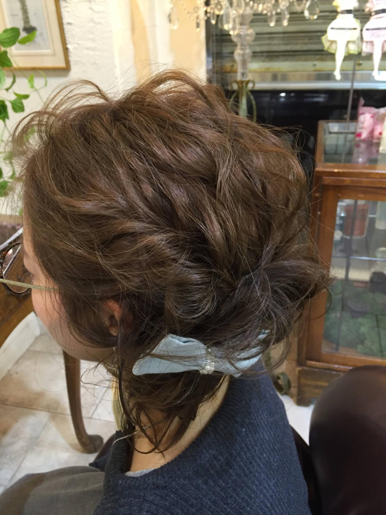 ナチュラル フェミニン ショート ヘアアレンジヘアスタイルや髪型の写真・画像