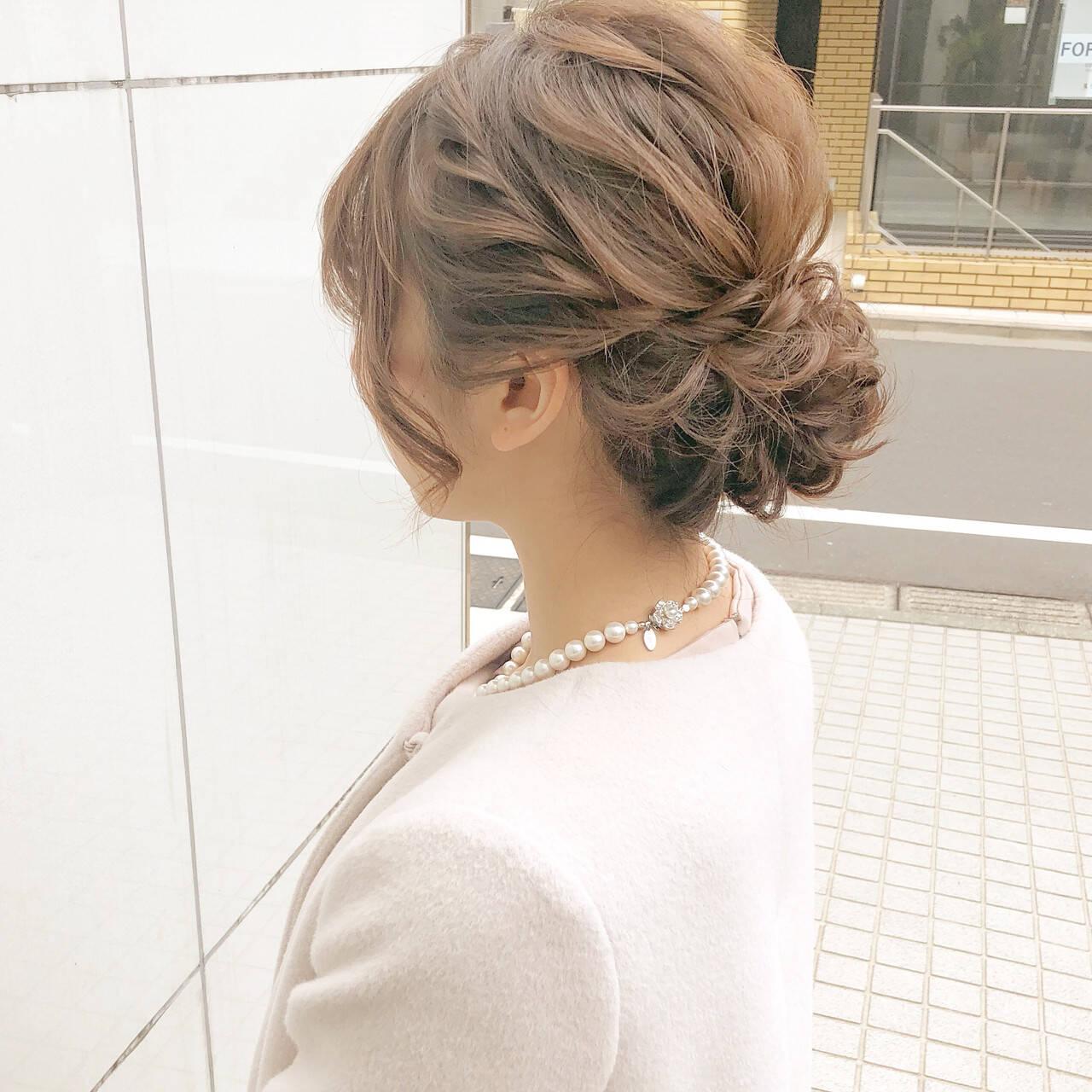 簡単ヘアアレンジ ロング デート オフィスヘアスタイルや髪型の写真・画像