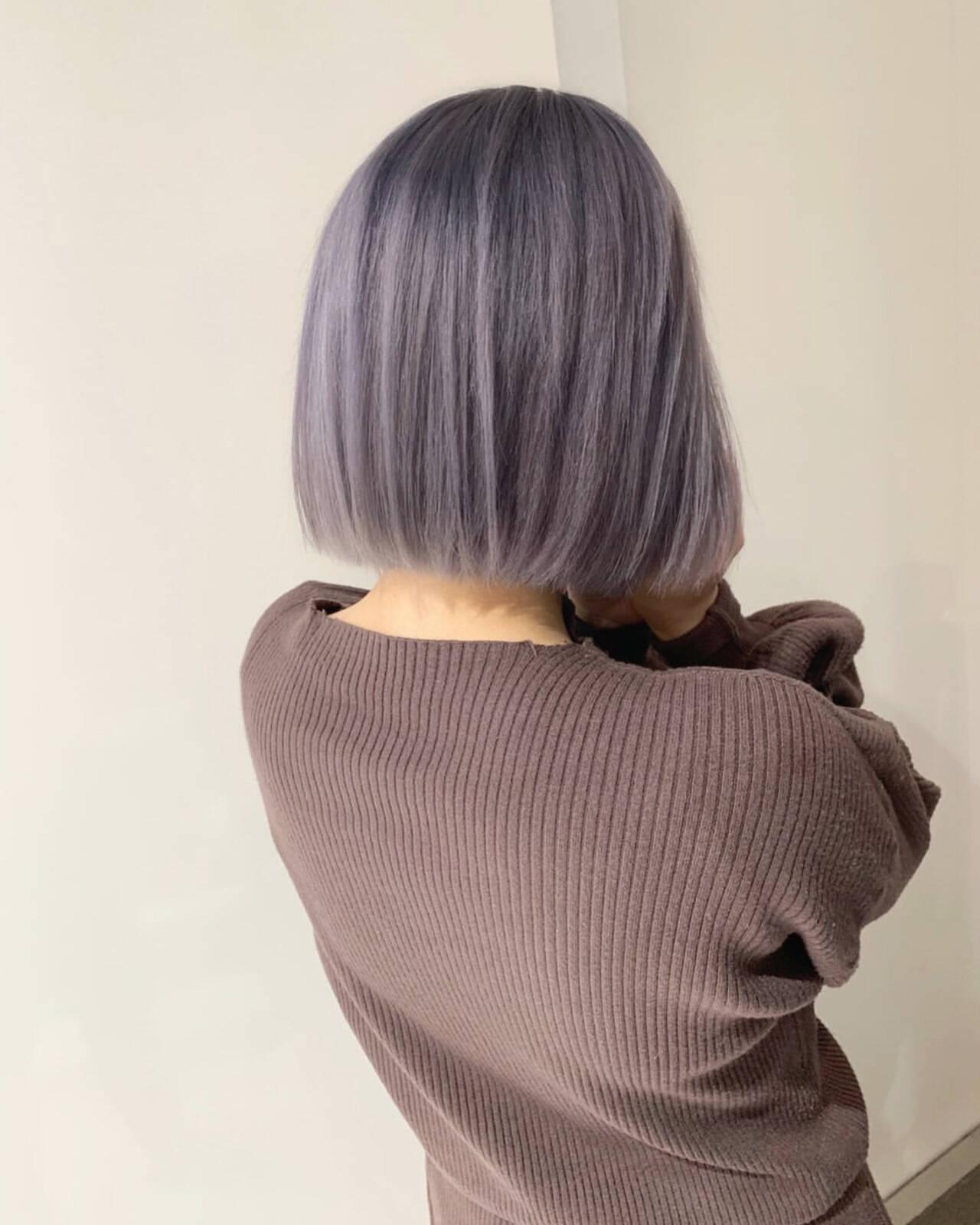 ハイトーンカラー フェミニン 外国人風カラー ショートヘアスタイルや髪型の写真・画像