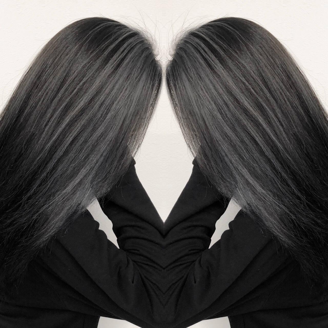 外国人風カラー バレイヤージュ ストリート 3Dハイライトヘアスタイルや髪型の写真・画像