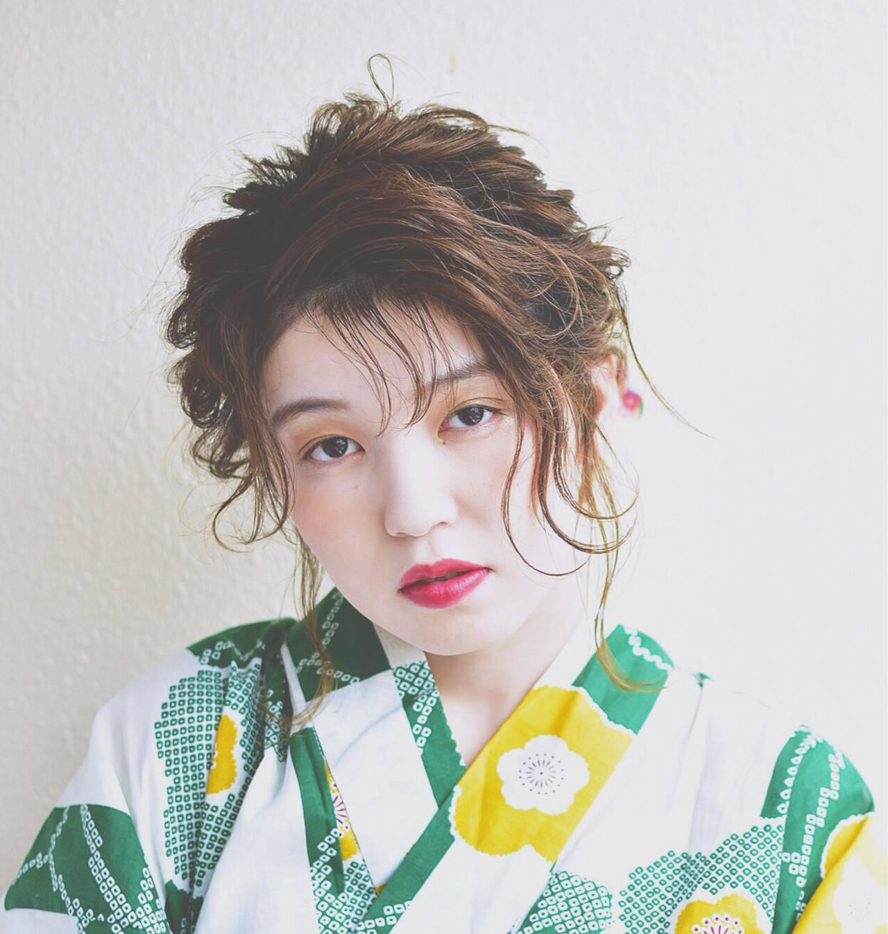 涼しげ 夏 フェミニン 花火大会ヘアスタイルや髪型の写真・画像