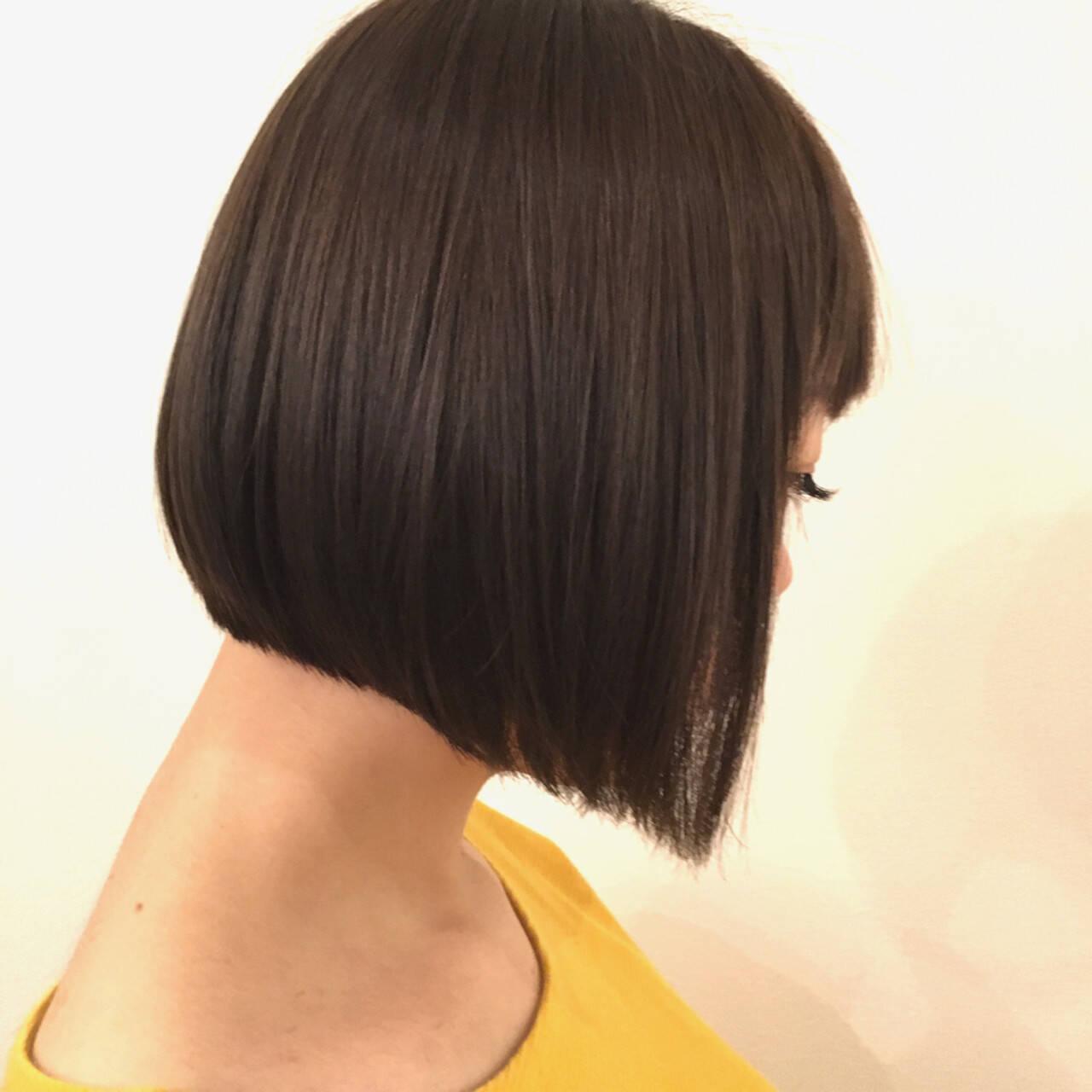 ストレート ナチュラル 透明感 秋ヘアスタイルや髪型の写真・画像