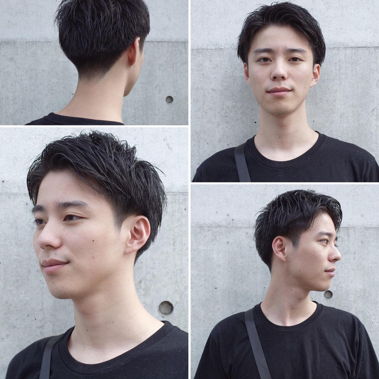 刈り上げ ナチュラル メンズヘア メンズショートヘアスタイルや髪型の写真・画像