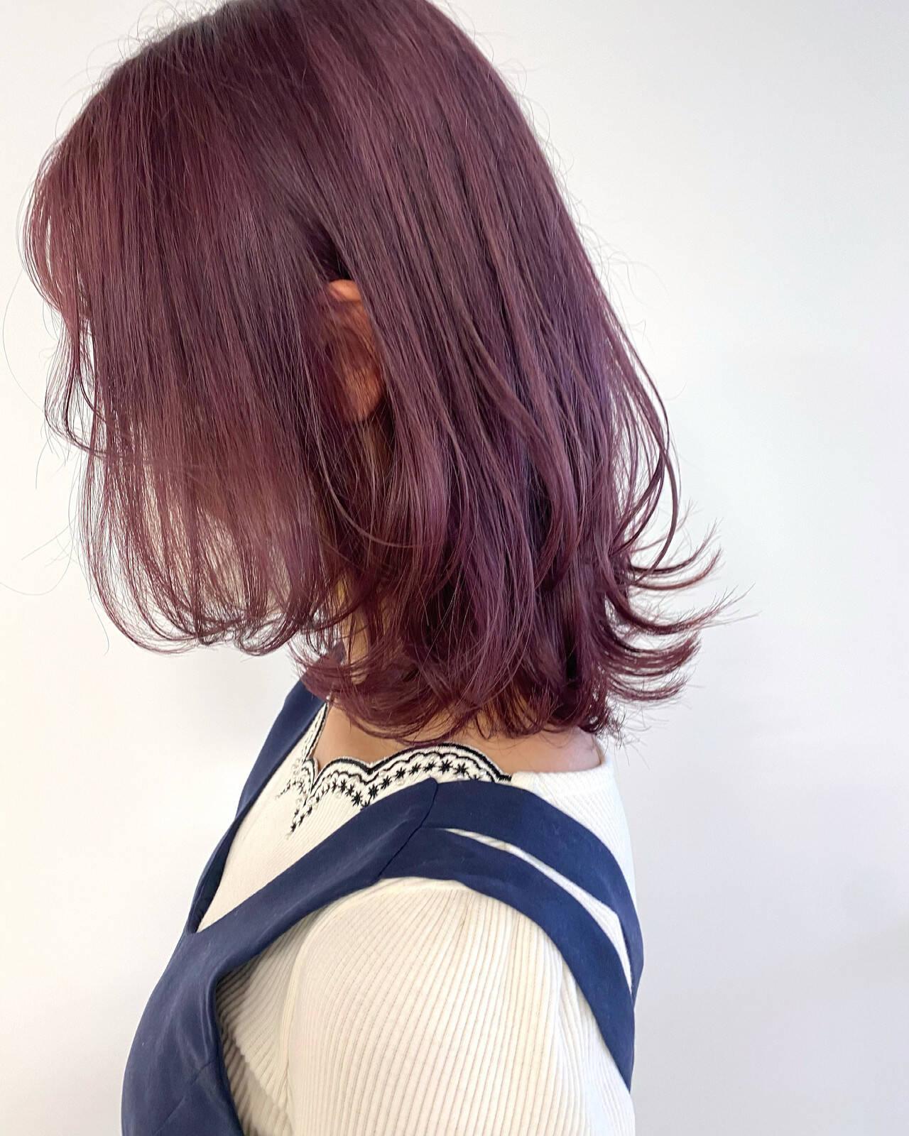ブリーチ必須 ミディアム ブリーチカラー ナチュラルヘアスタイルや髪型の写真・画像