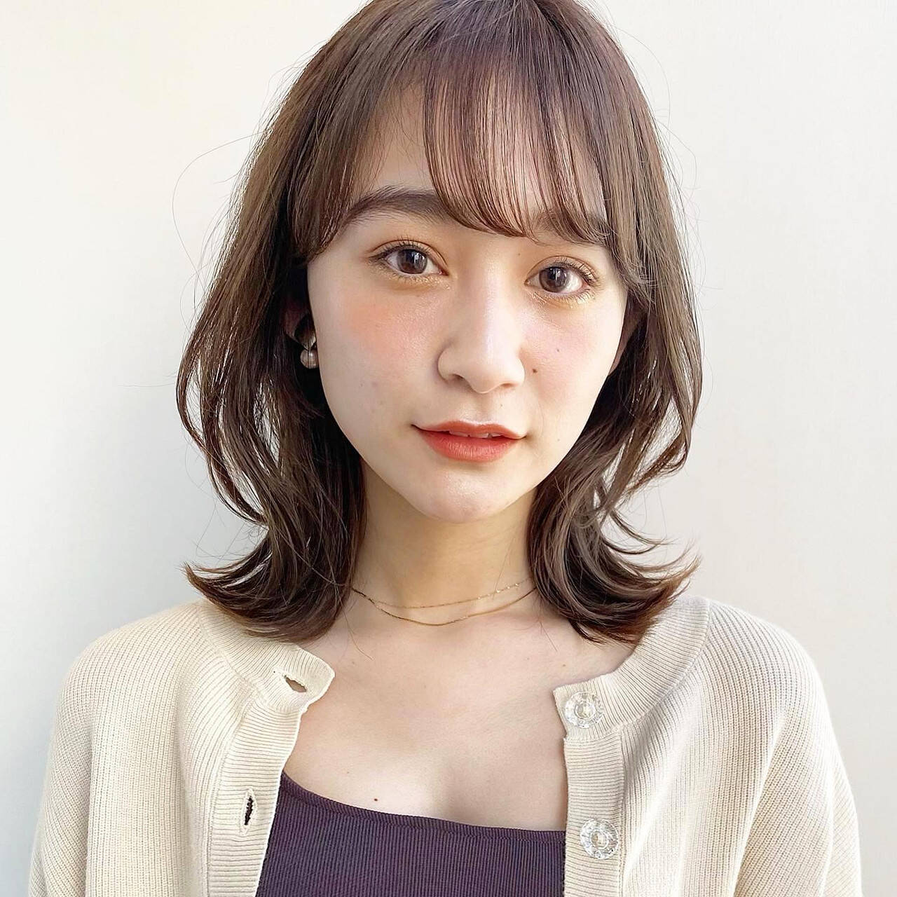 ミディアム ミディアムレイヤー レイヤー レイヤーカットヘアスタイルや髪型の写真・画像