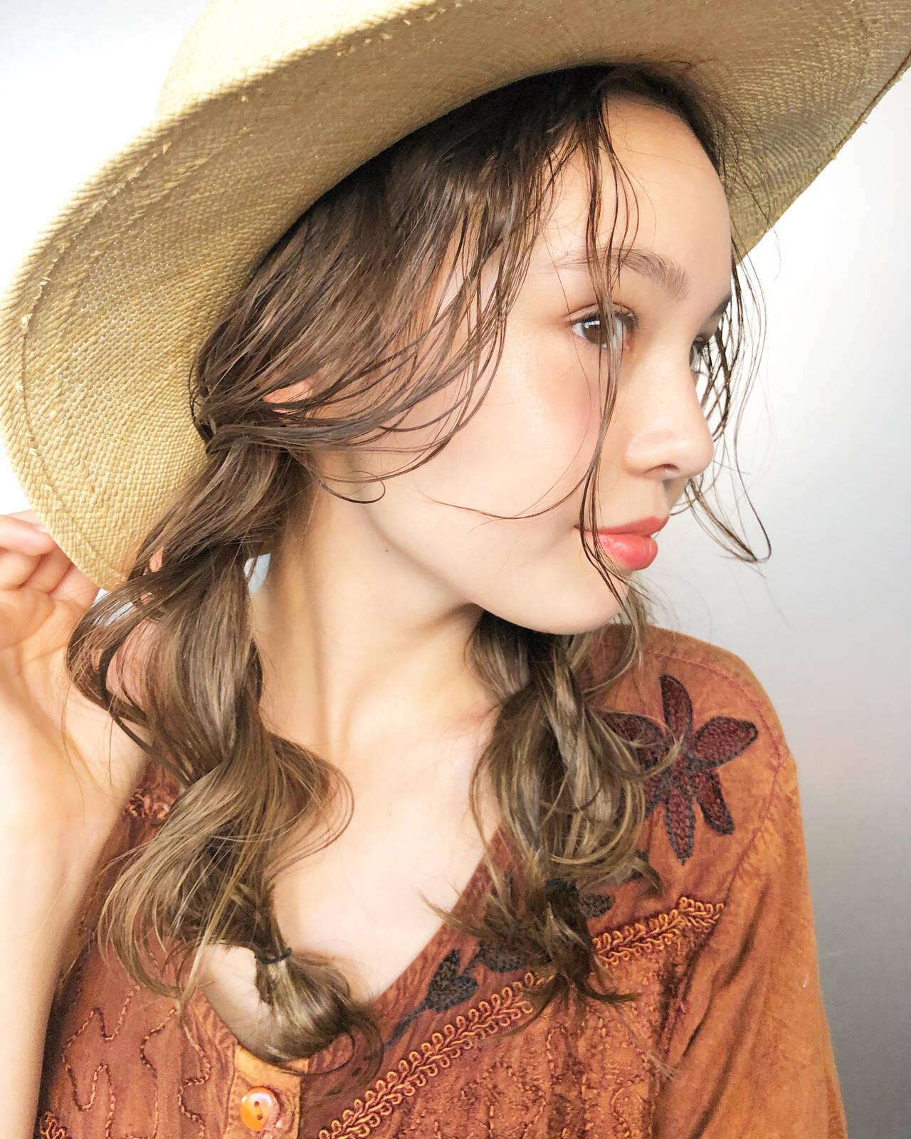 アンニュイ セルフヘアアレンジ あざと毛 ヘアアレンジヘアスタイルや髪型の写真・画像