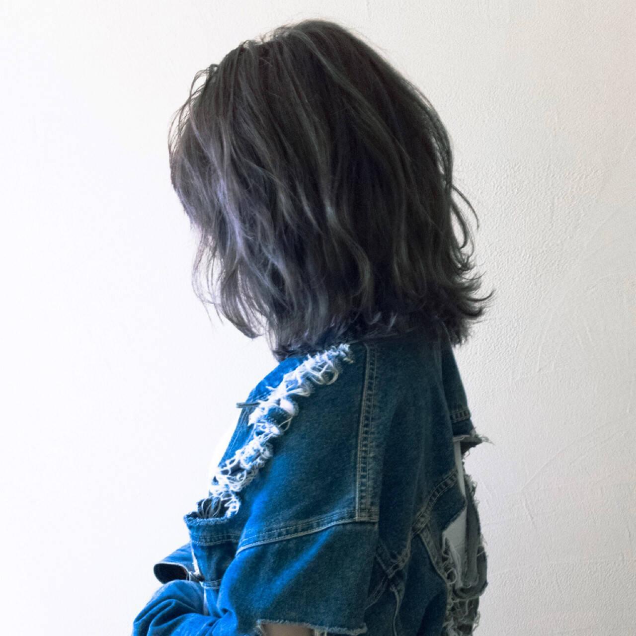 ストリート ハイトーン ボブ 外国人風ヘアスタイルや髪型の写真・画像