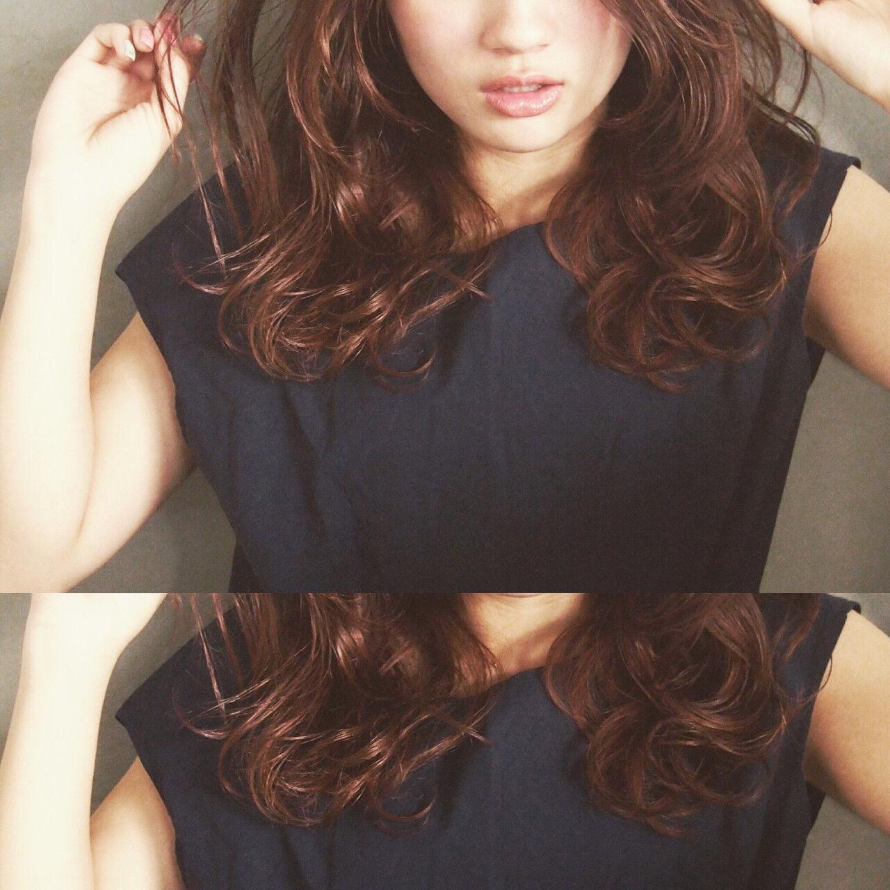 ゆるふわ ハイライト パーマ 大人かわいいヘアスタイルや髪型の写真・画像