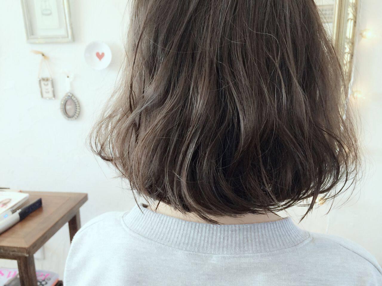ストリート 外国人風 ボブ 秋ヘアスタイルや髪型の写真・画像