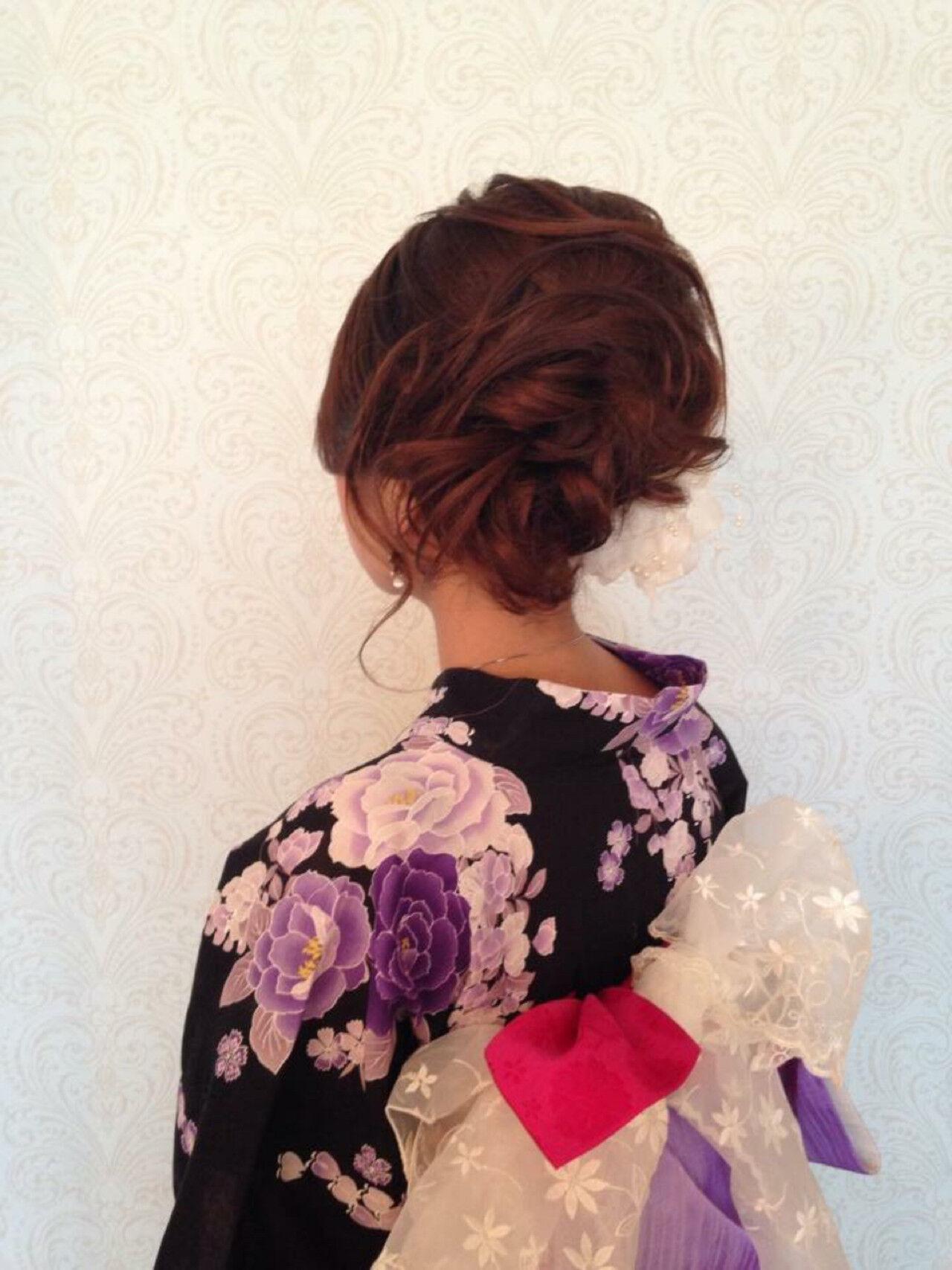 花火大会 ヘアアレンジ 大人かわいい お祭りヘアスタイルや髪型の写真・画像