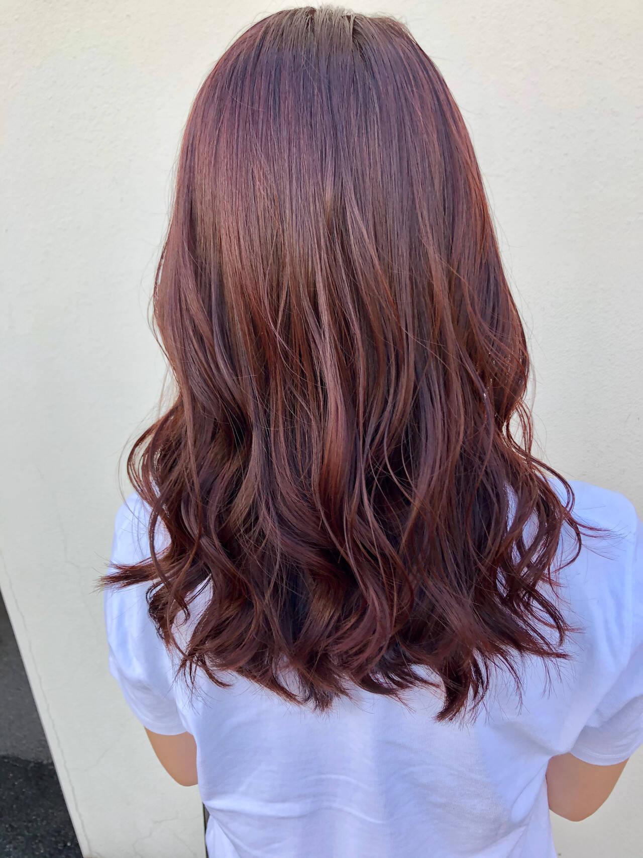 巻き髪 ヨシンモリ エレガント レッドヘアスタイルや髪型の写真・画像