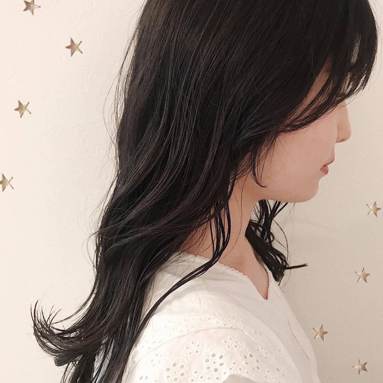 大人かわいい セミロング ナチュラル 大人女子ヘアスタイルや髪型の写真・画像