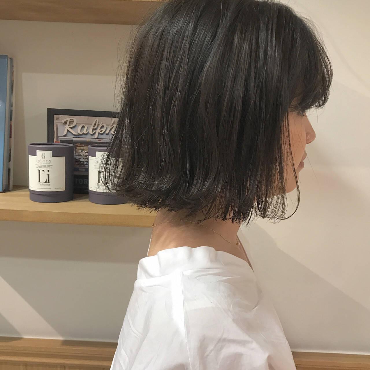 ナチュラル ハイライト 透明感 外ハネヘアスタイルや髪型の写真・画像