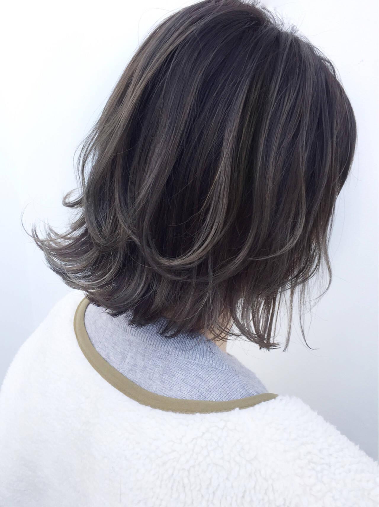 ボブ 外国人風 似合わせ ハイライトヘアスタイルや髪型の写真・画像