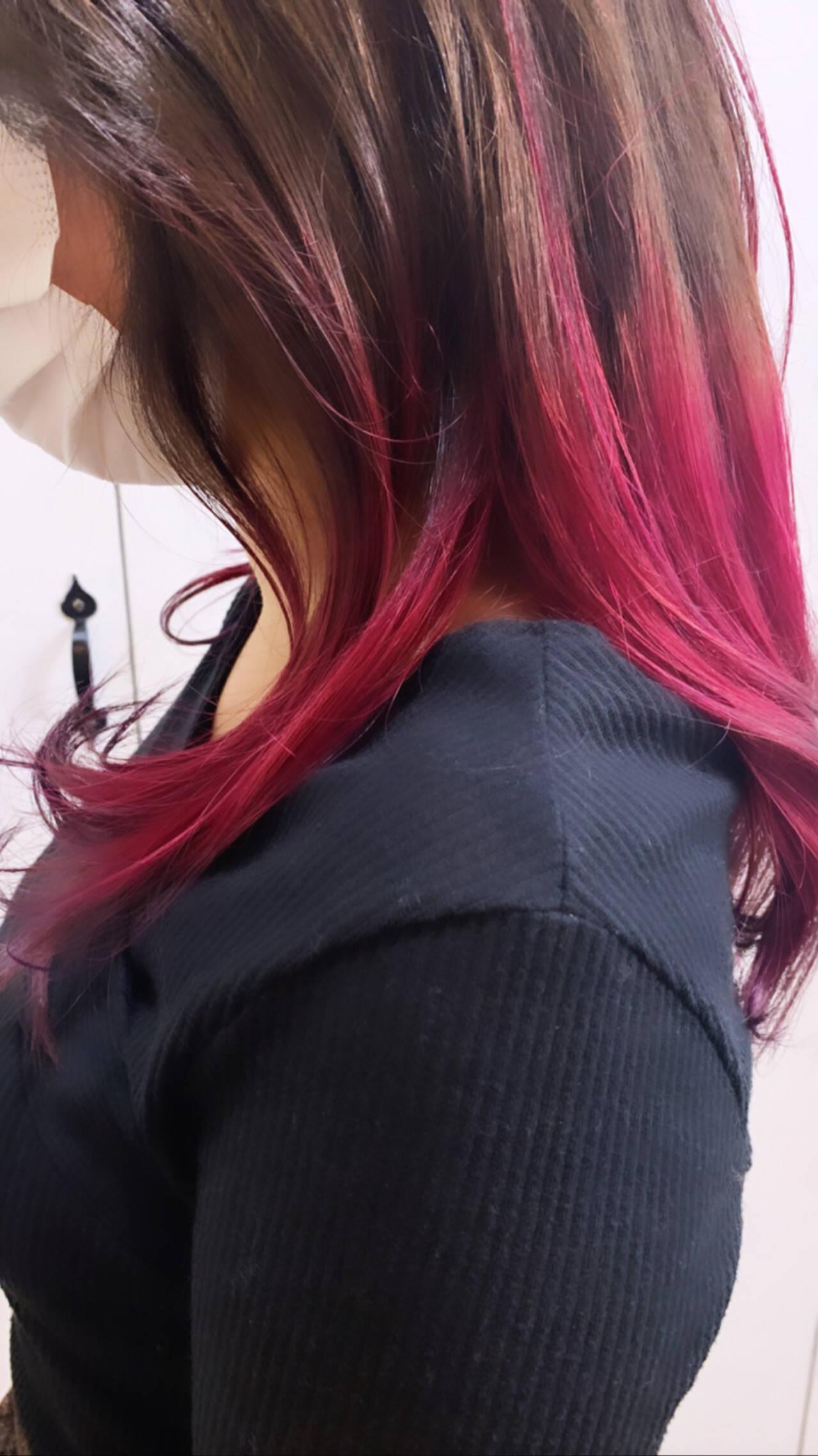 ヘアカラー ブリーチカラー ダブルカラー ストリートヘアスタイルや髪型の写真・画像