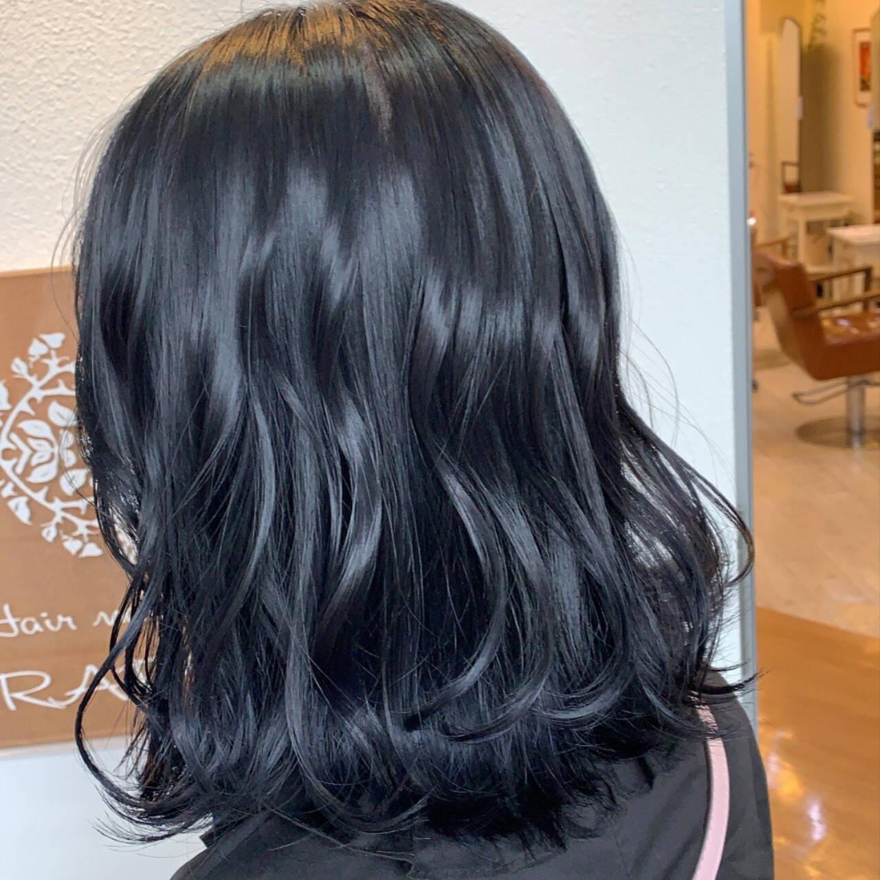 暗髪 モード 暗髪女子 ブルージュヘアスタイルや髪型の写真・画像