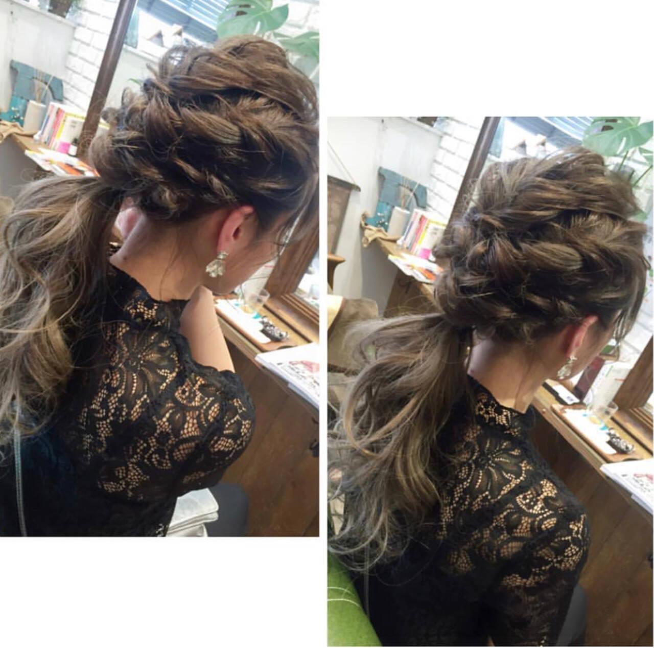 簡単ヘアアレンジ ロング エレガント 成人式ヘアスタイルや髪型の写真・画像