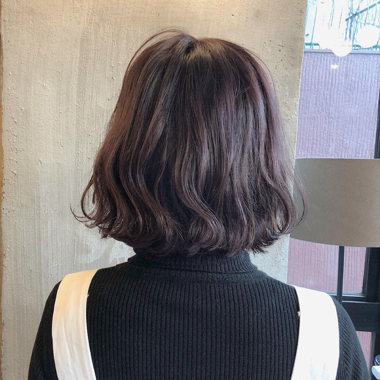 透明感 外国人風カラー ロブ ナチュラルヘアスタイルや髪型の写真・画像