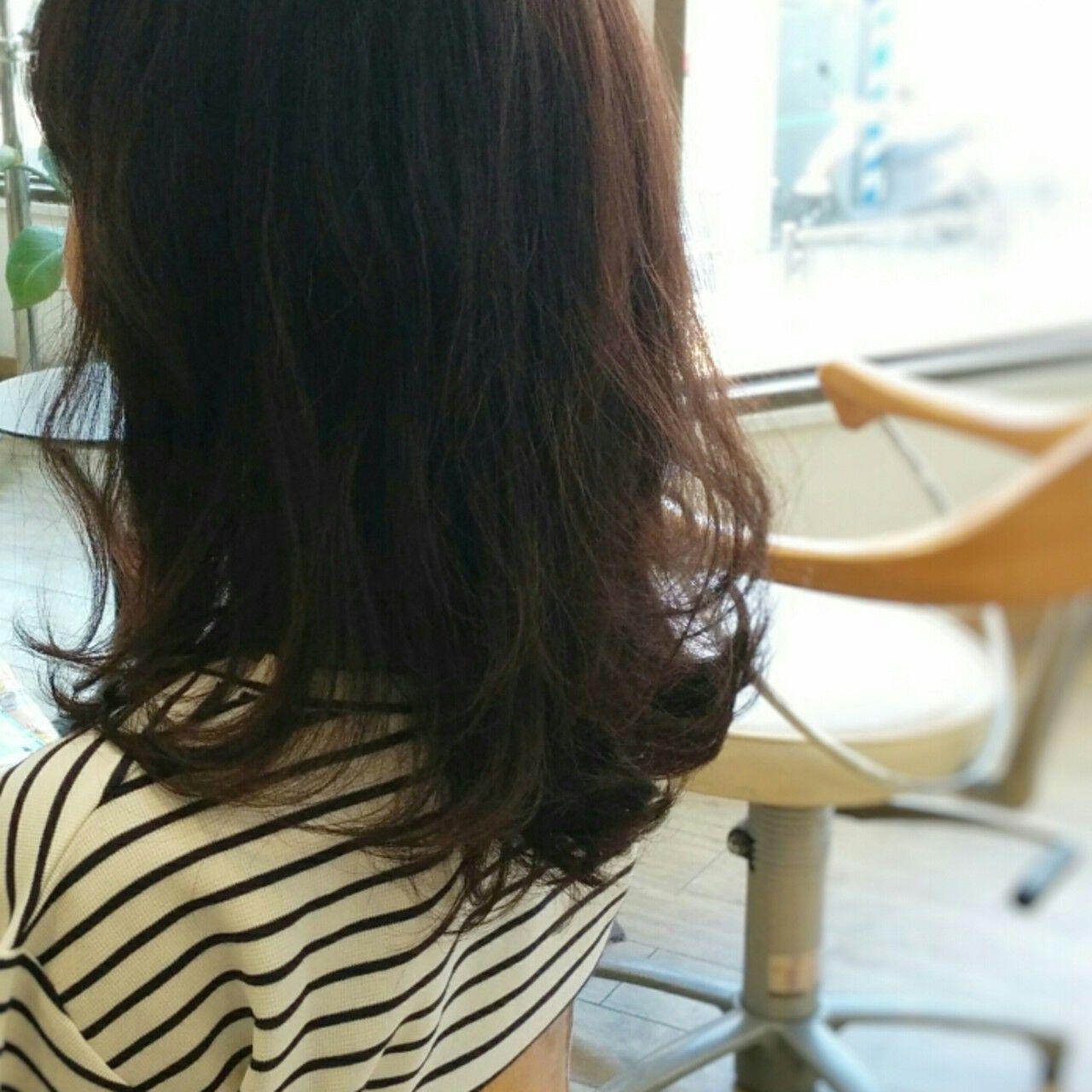 大人かわいい レッド ガーリー 暗髪ヘアスタイルや髪型の写真・画像