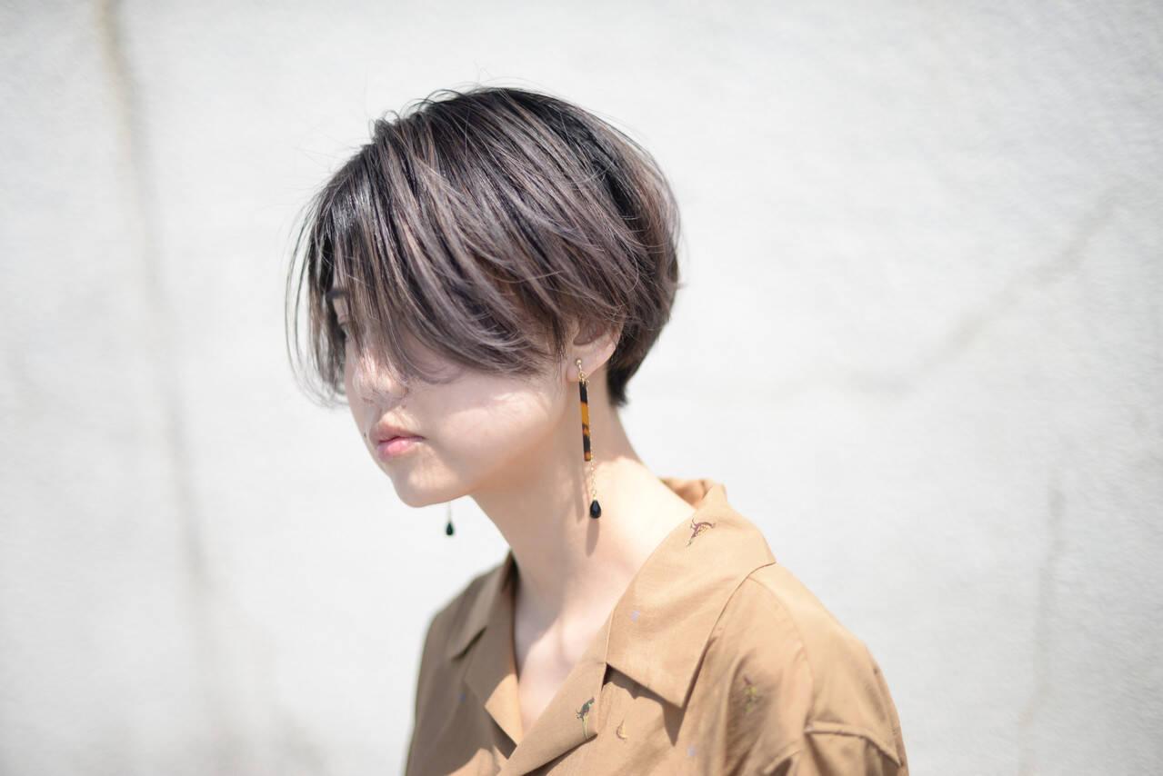ストリート ショート 3Dハイライト 外国人風カラーヘアスタイルや髪型の写真・画像