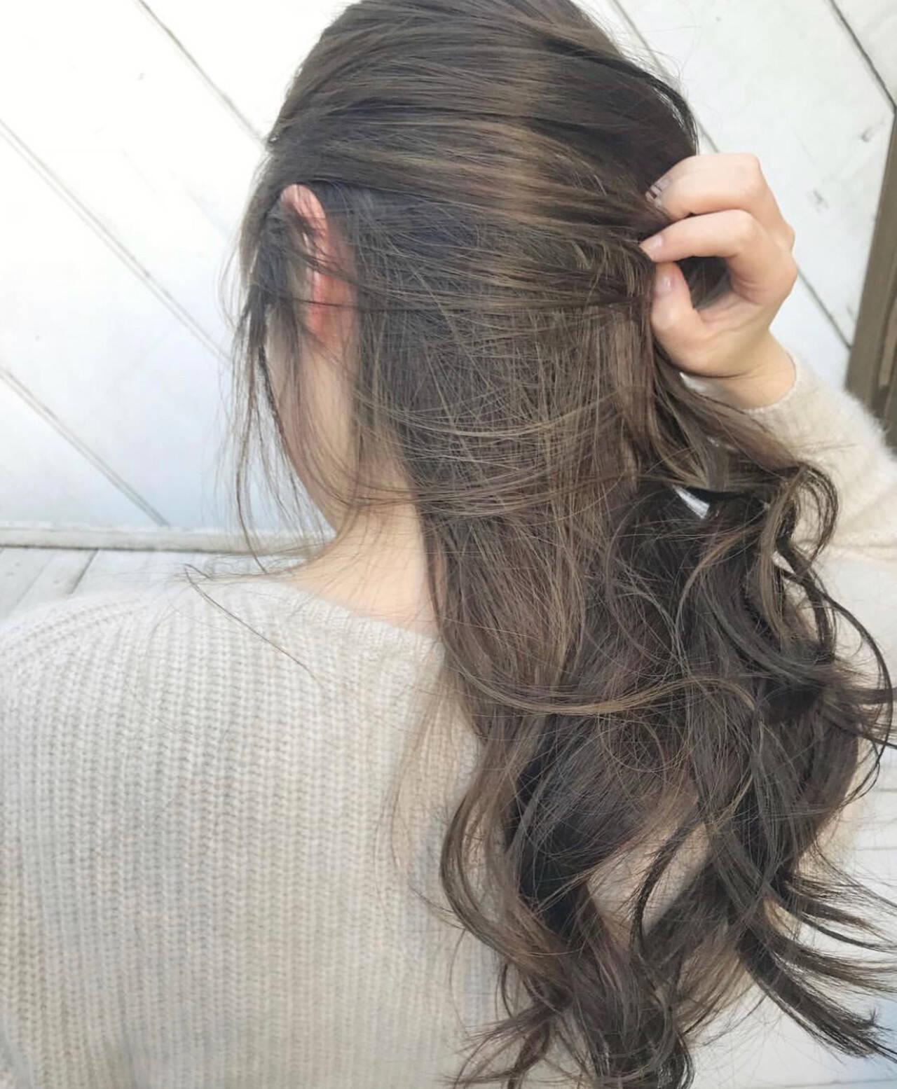 インナーカラー 外国人風カラー ナチュラル ヘアアレンジヘアスタイルや髪型の写真・画像