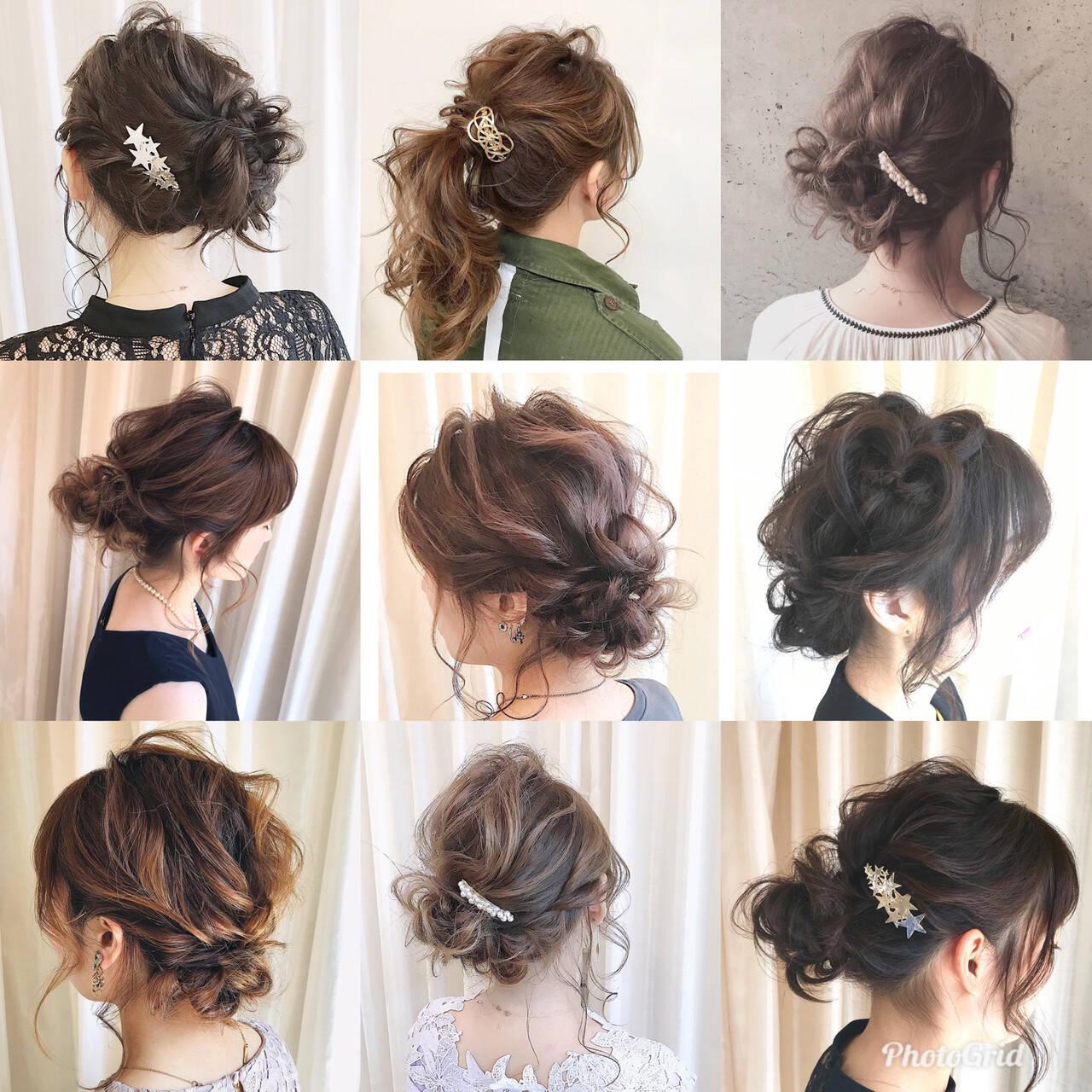 あざと毛 簡単ヘアアレンジ ナチュラル 結婚式ヘアスタイルや髪型の写真・画像