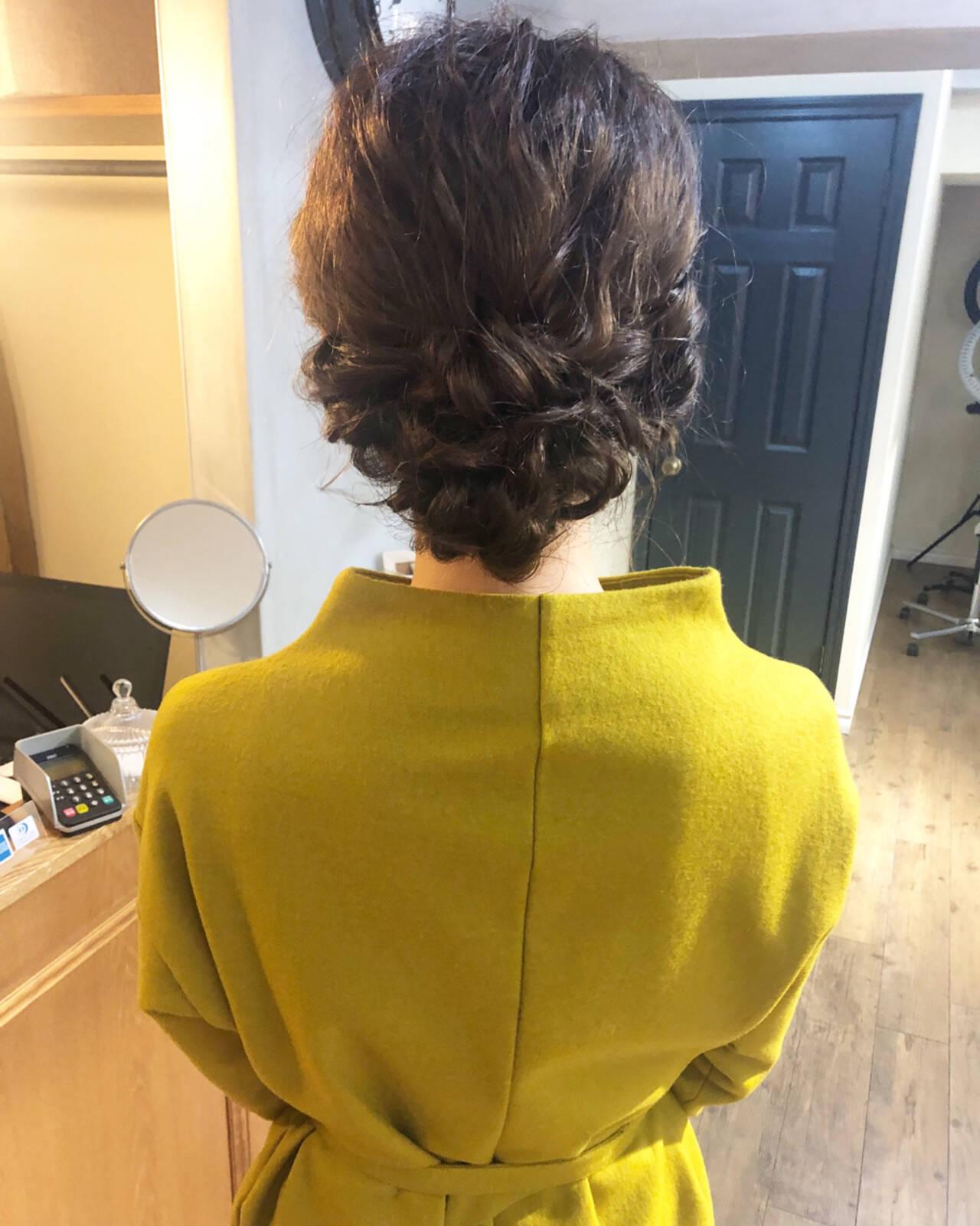 結婚式 デート ヘアアレンジ ナチュラルヘアスタイルや髪型の写真・画像