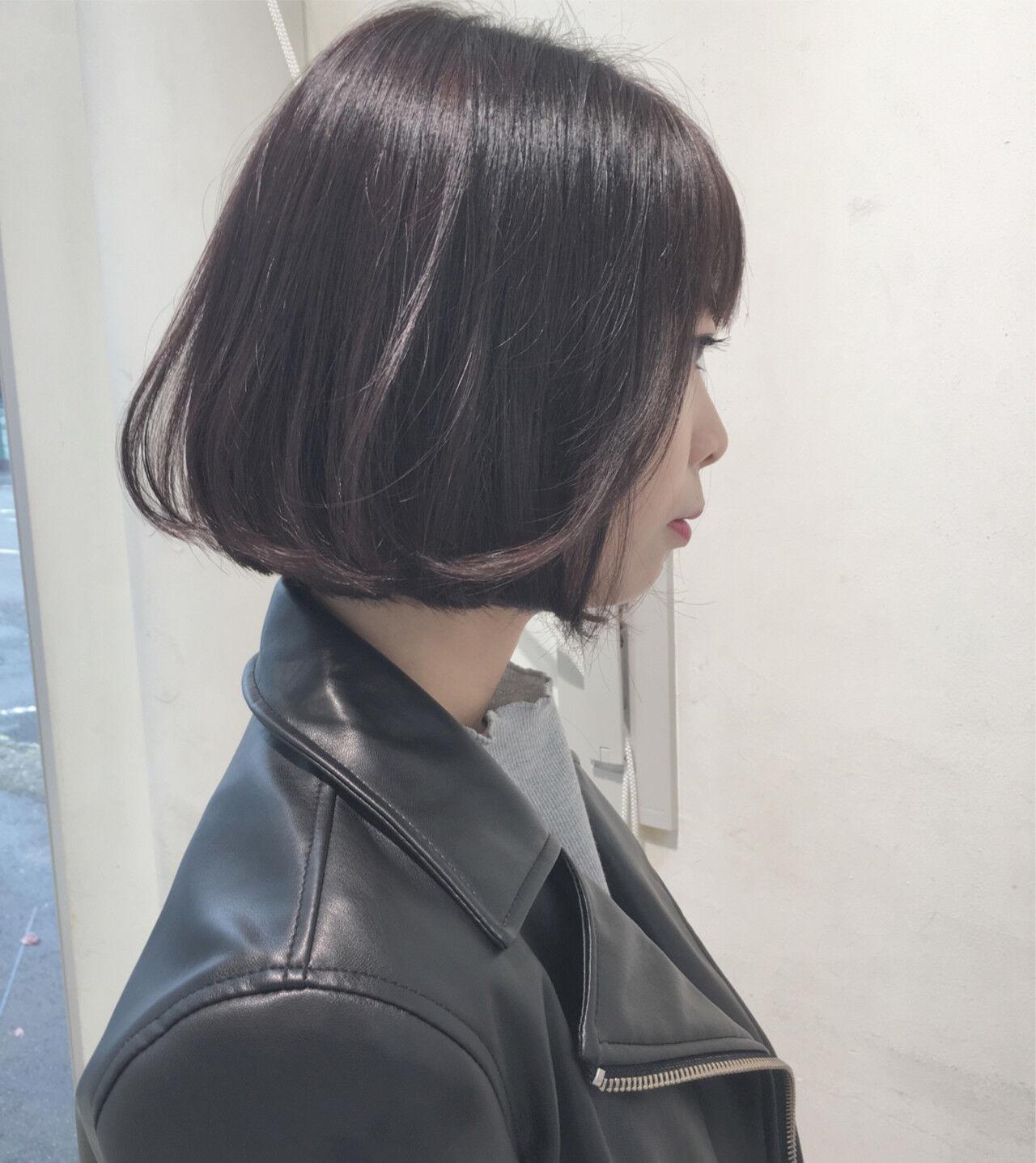小顔 タンバルモリ ショートボブ ボブヘアスタイルや髪型の写真・画像