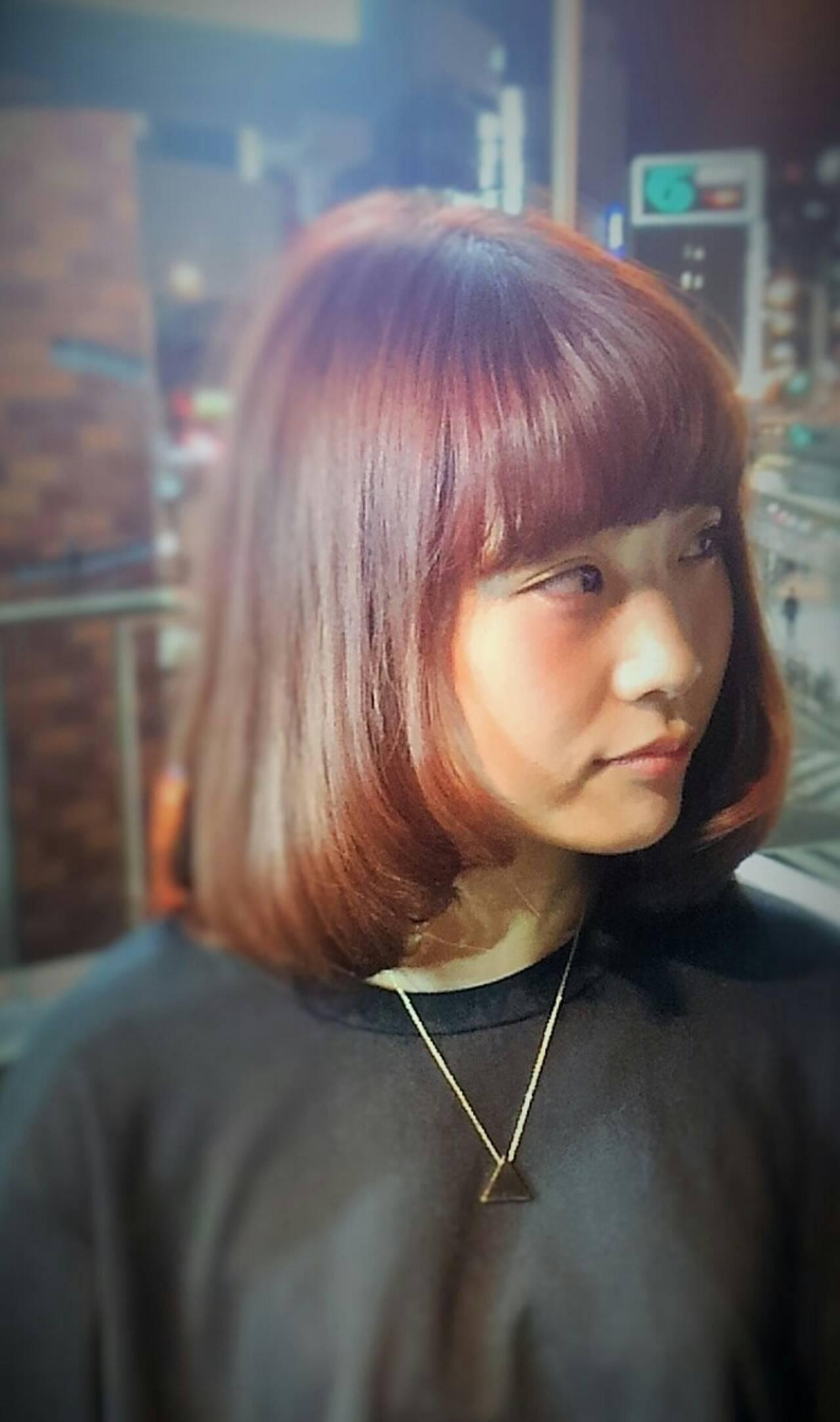 ワンカール ガーリー ストレート ラフヘアスタイルや髪型の写真・画像